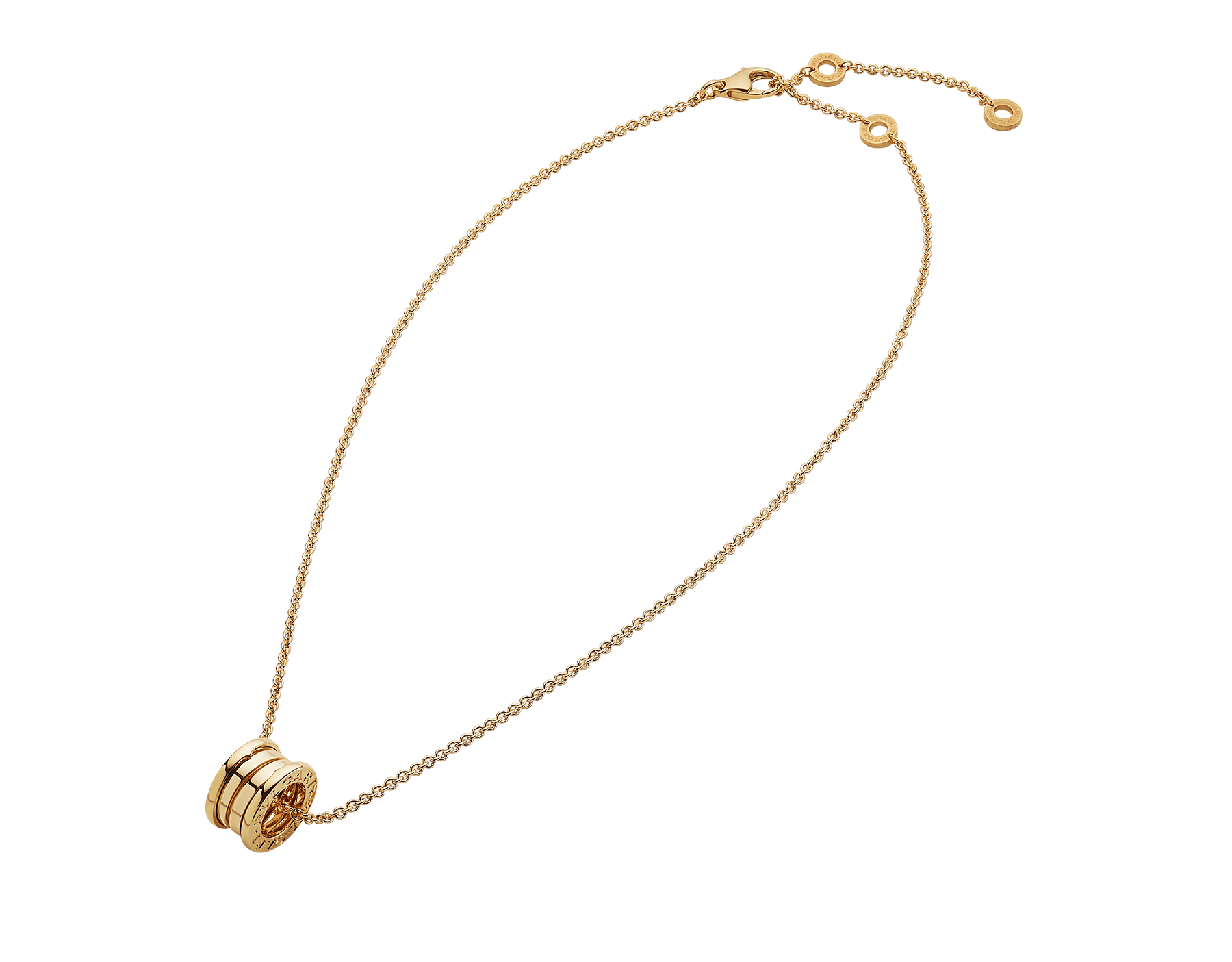 B.zero1 necklace with small round pendant, both in 18kt yellow gold. 352814 image 2