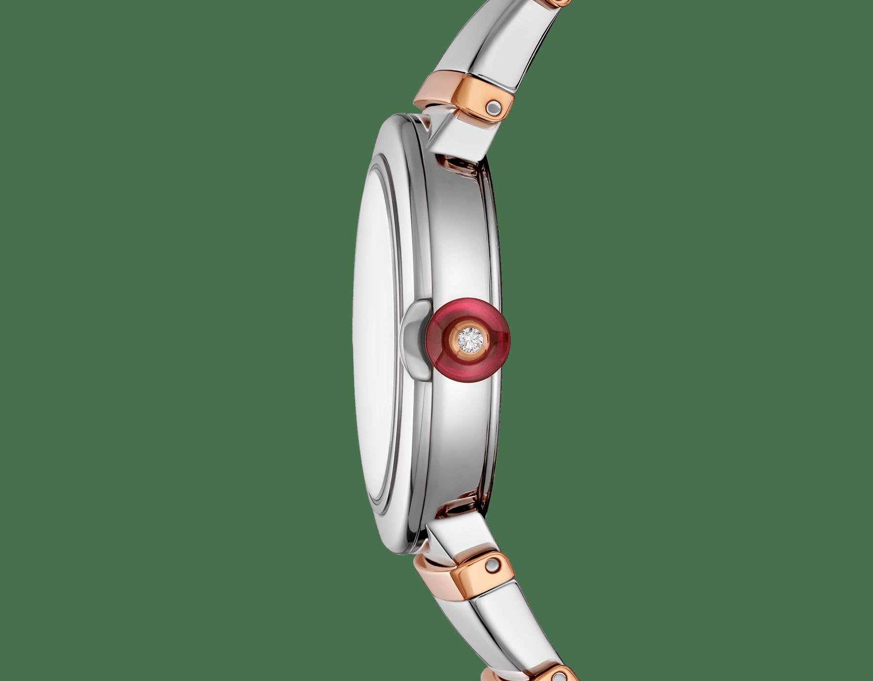 Часы LVCEA, корпус из нержавеющей стали, серебристый опаловый циферблат, браслет из розового золота 18 карат и нержавеющей стали. 102193 image 3