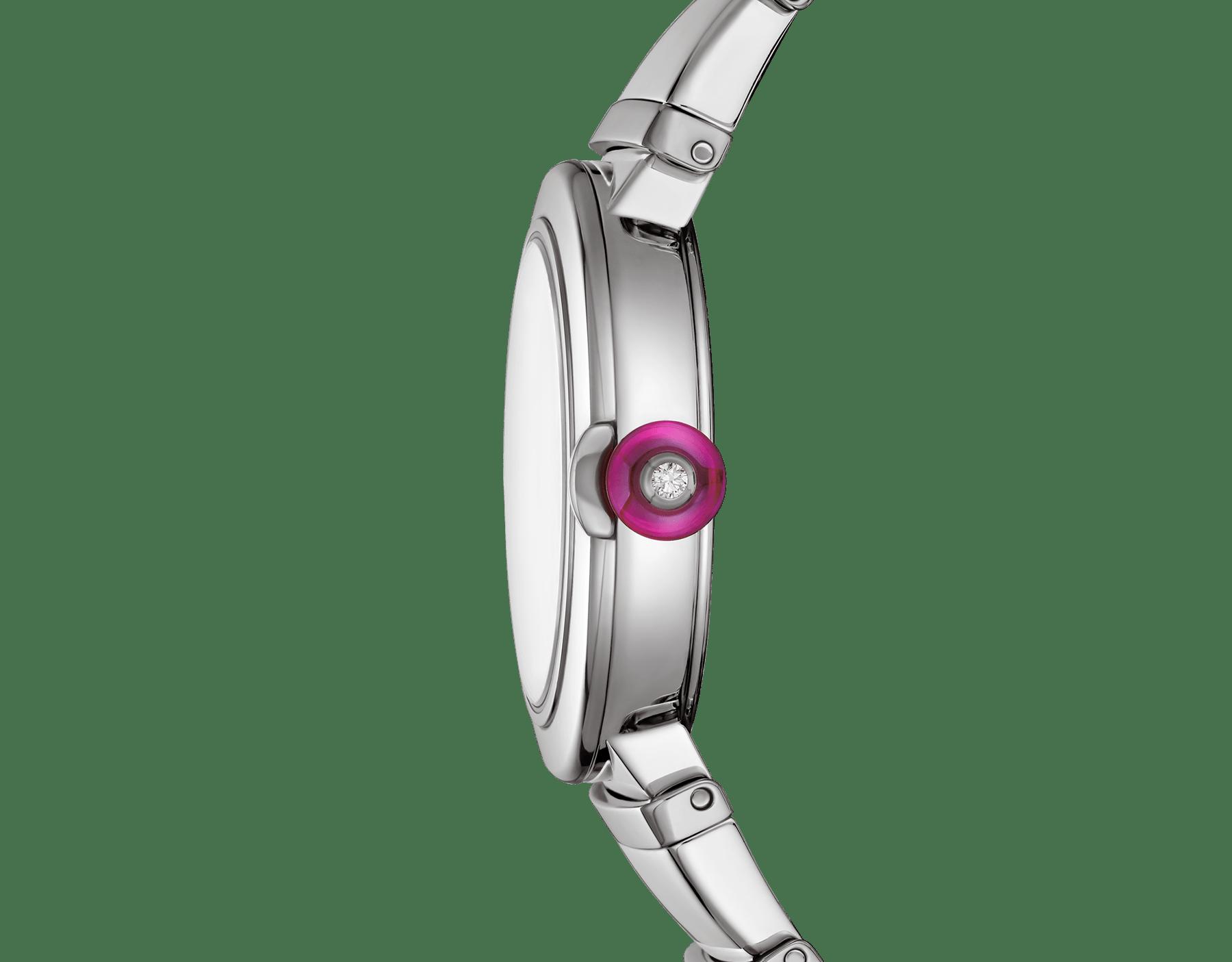 Montre LVCEA avec boîtier et bracelet en acier inoxydable, cadran noir. 102690 image 3
