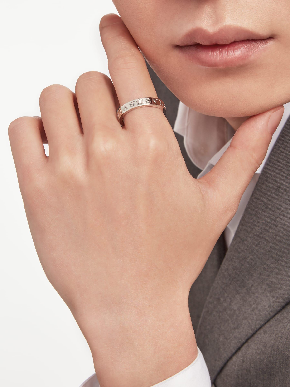 BVLGARI BVLGARI 18K 白金戒指,鑲飾鑽石。 AN853348 image 2