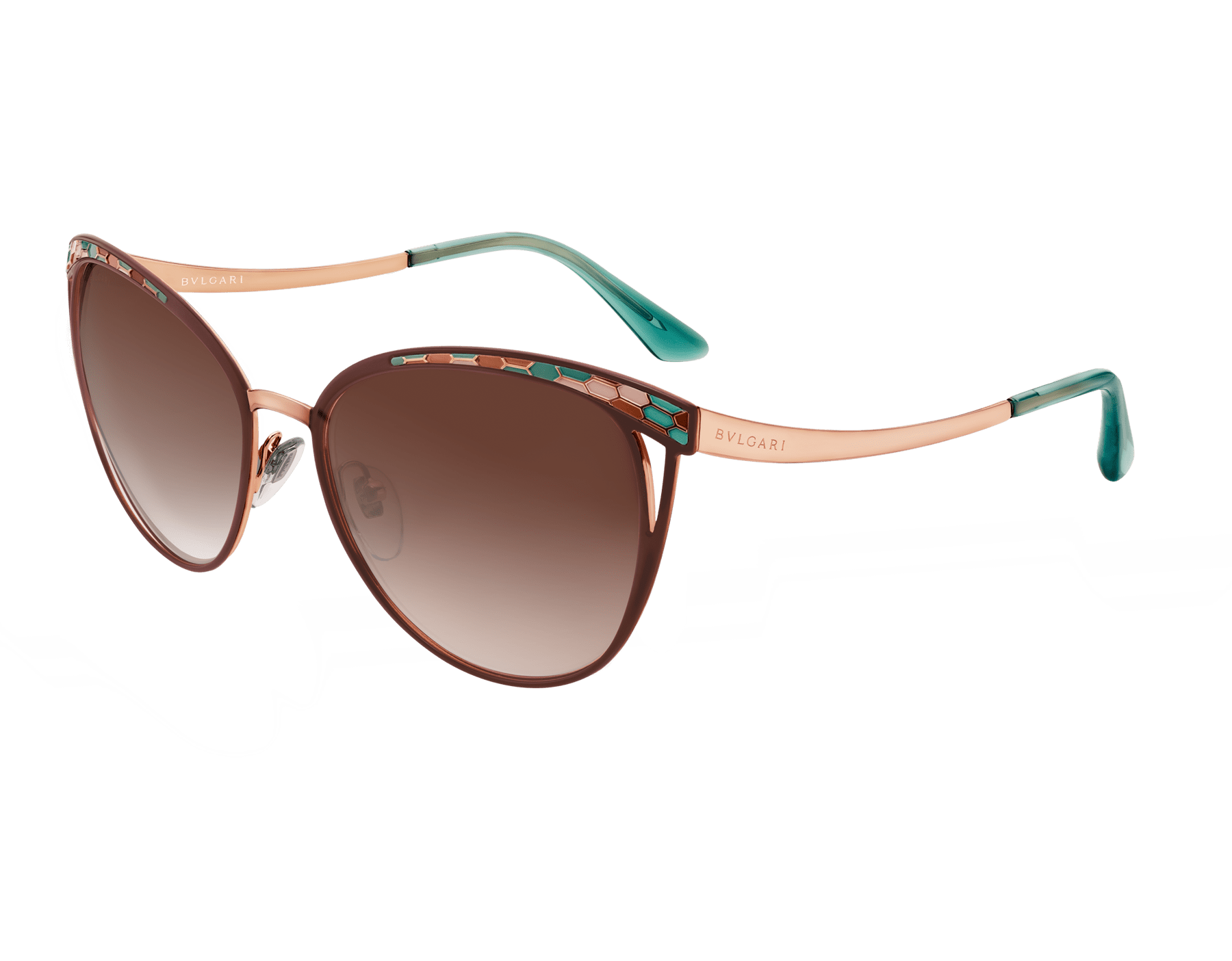 Bulgari Serpenti Serpentine cat-eye metal sunglasses. 903977 image 1