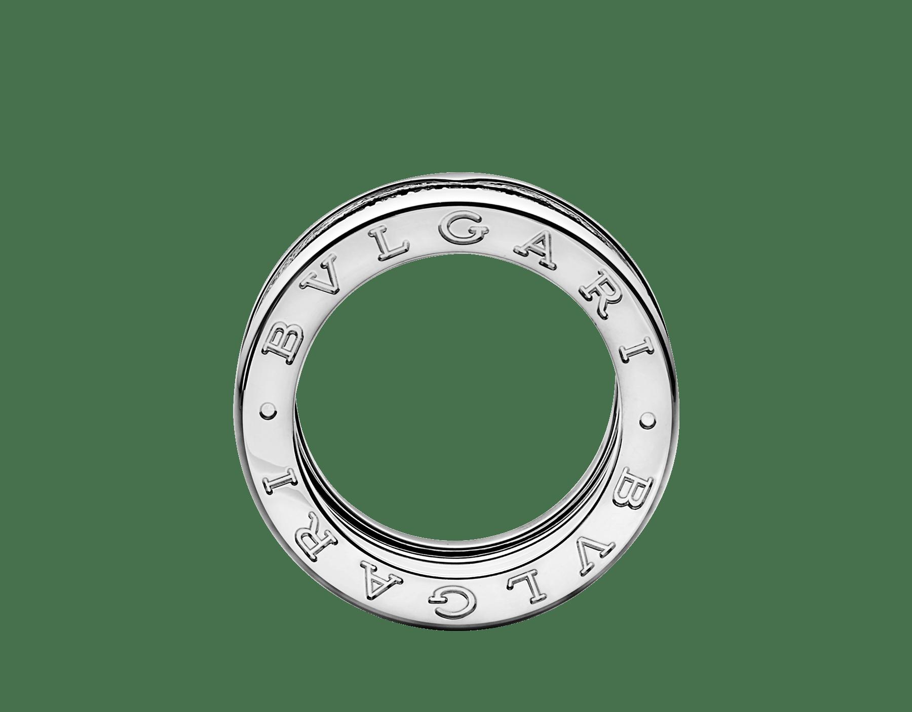 Fundindo o caráter ousado de suas curvas fluidas com a preciosidade de diamantes cravejados, o anel B.zero1 revela um espírito versátil e uma elegância contemporânea. B-zero1-4-bands-AN850556 image 2