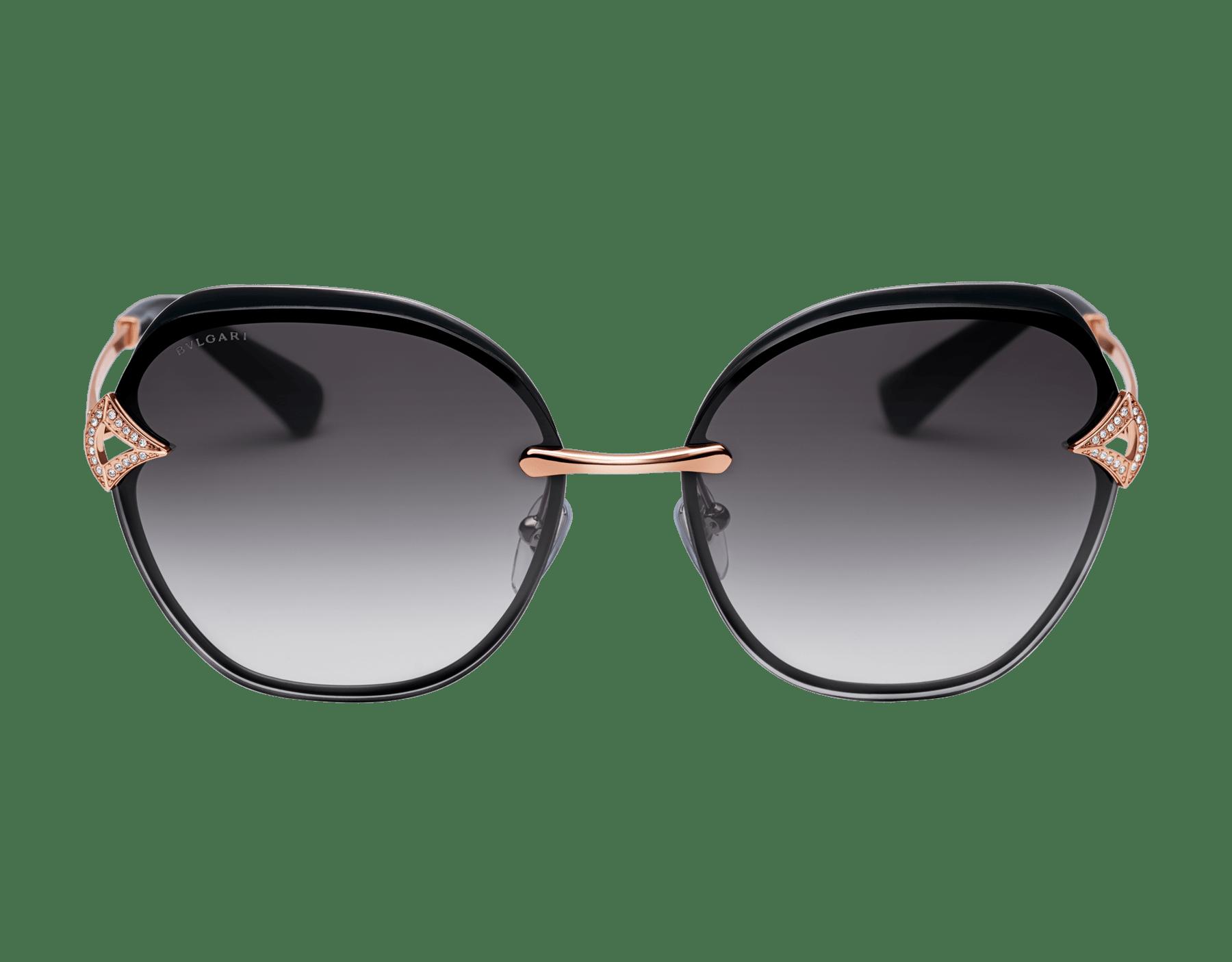 Bvlgari DIVAS' DREAM angular squared metal sunglasses 903667 image 2