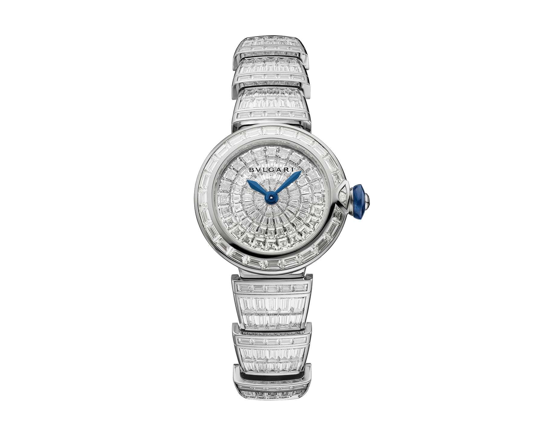LVCEA watch in 18kt white gold case and bracelet, both set with baguette diamonds and full diamond dial. 102465 image 1