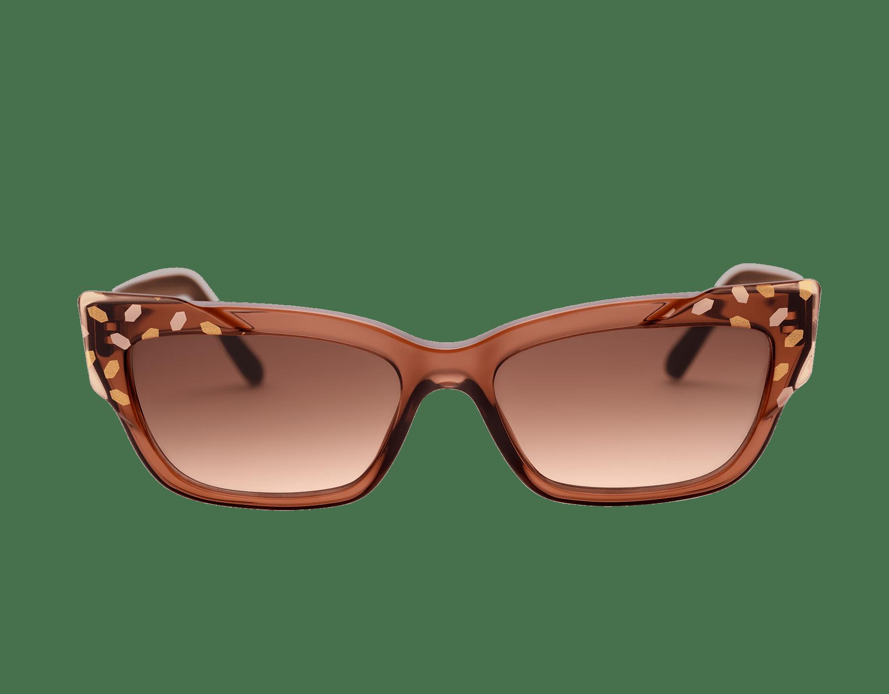 Bvlgari Serpenti Scale-blast rectangular cat-eye acetate sunglasses. 903736 image 2