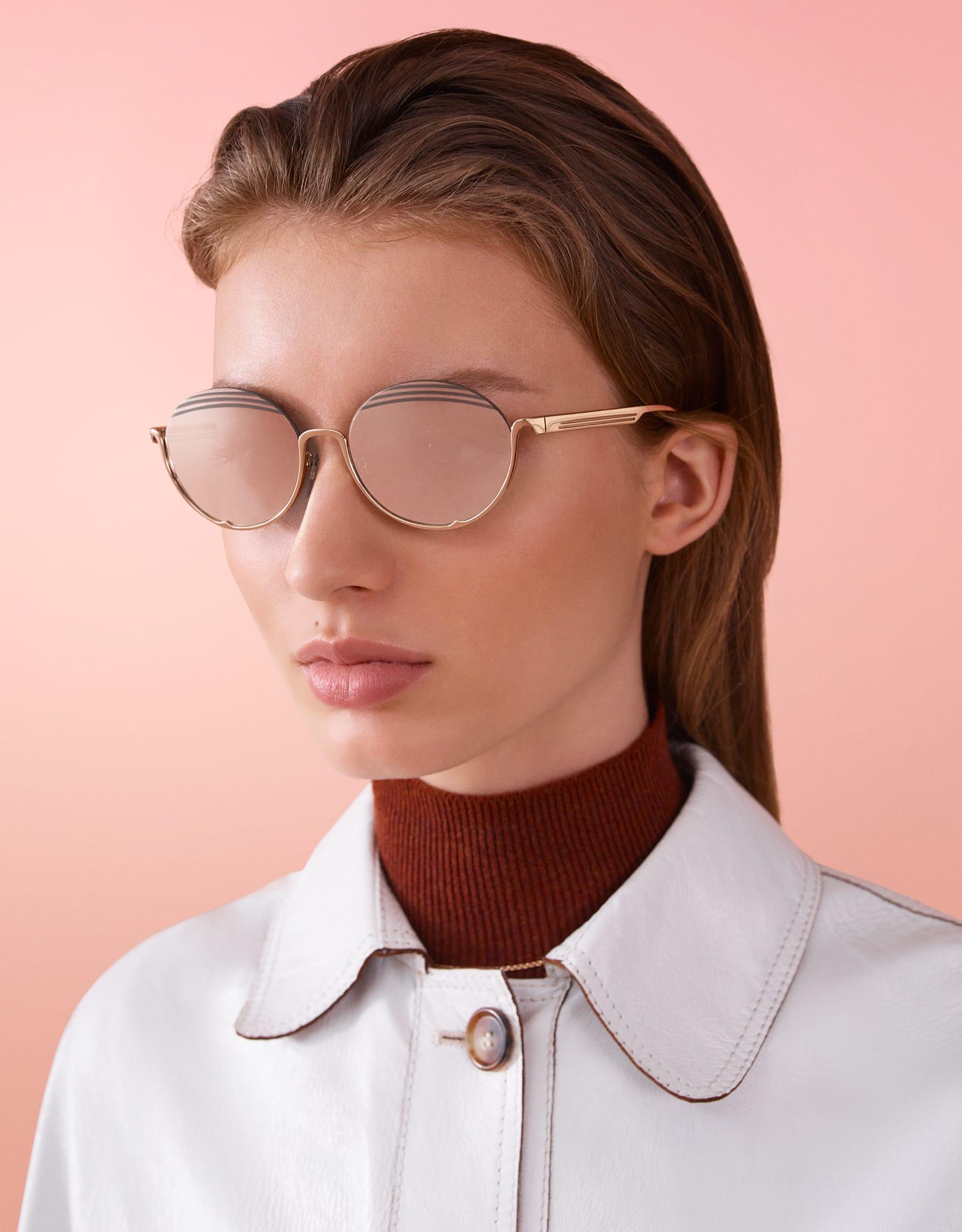 Bvlgari B.zero1 B.stripe semi-rimless oval metal sunglasses. 903713 image 3