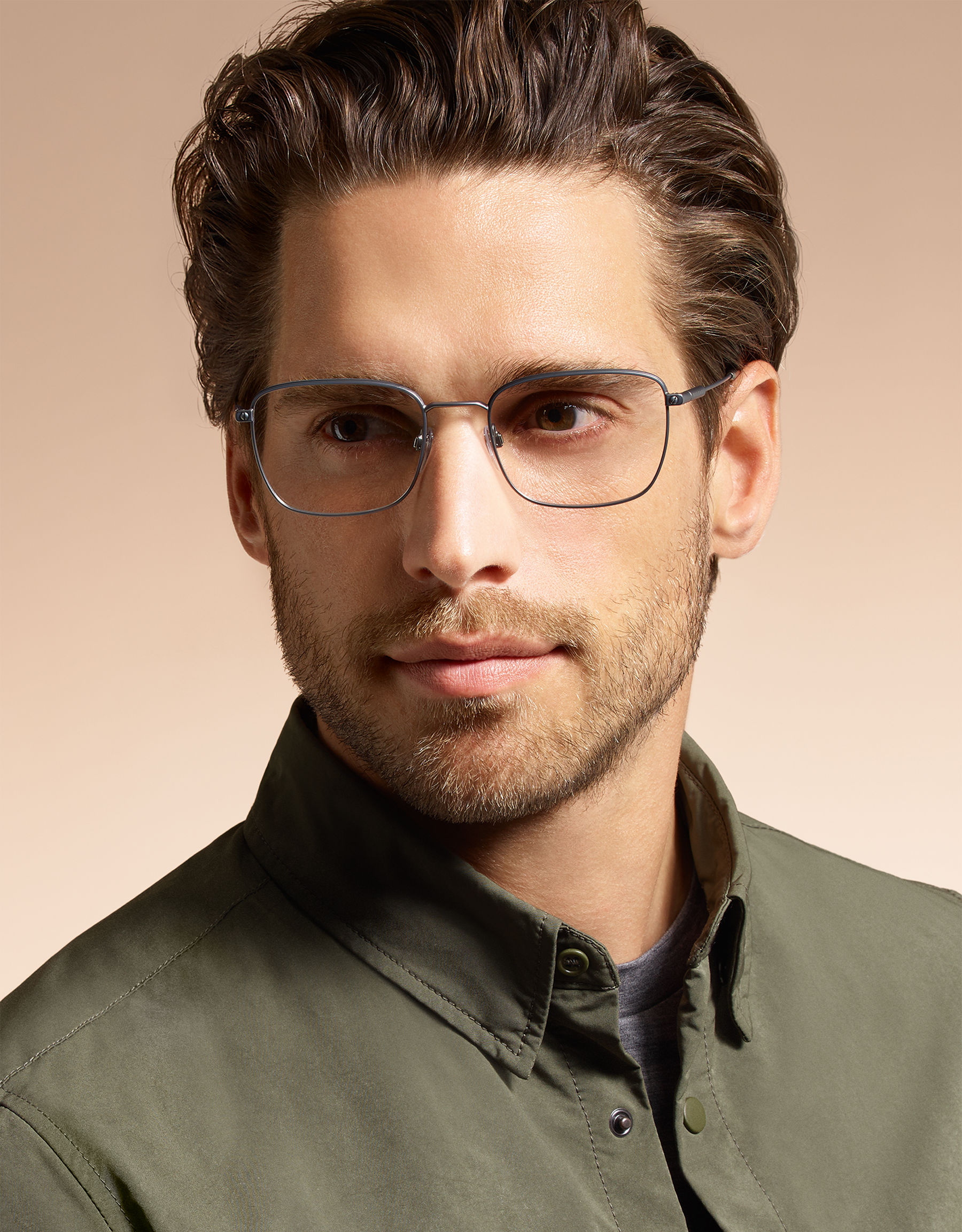 BVLGARI宝格丽Diagono长方形金属镜框眼镜。 903873 image 3