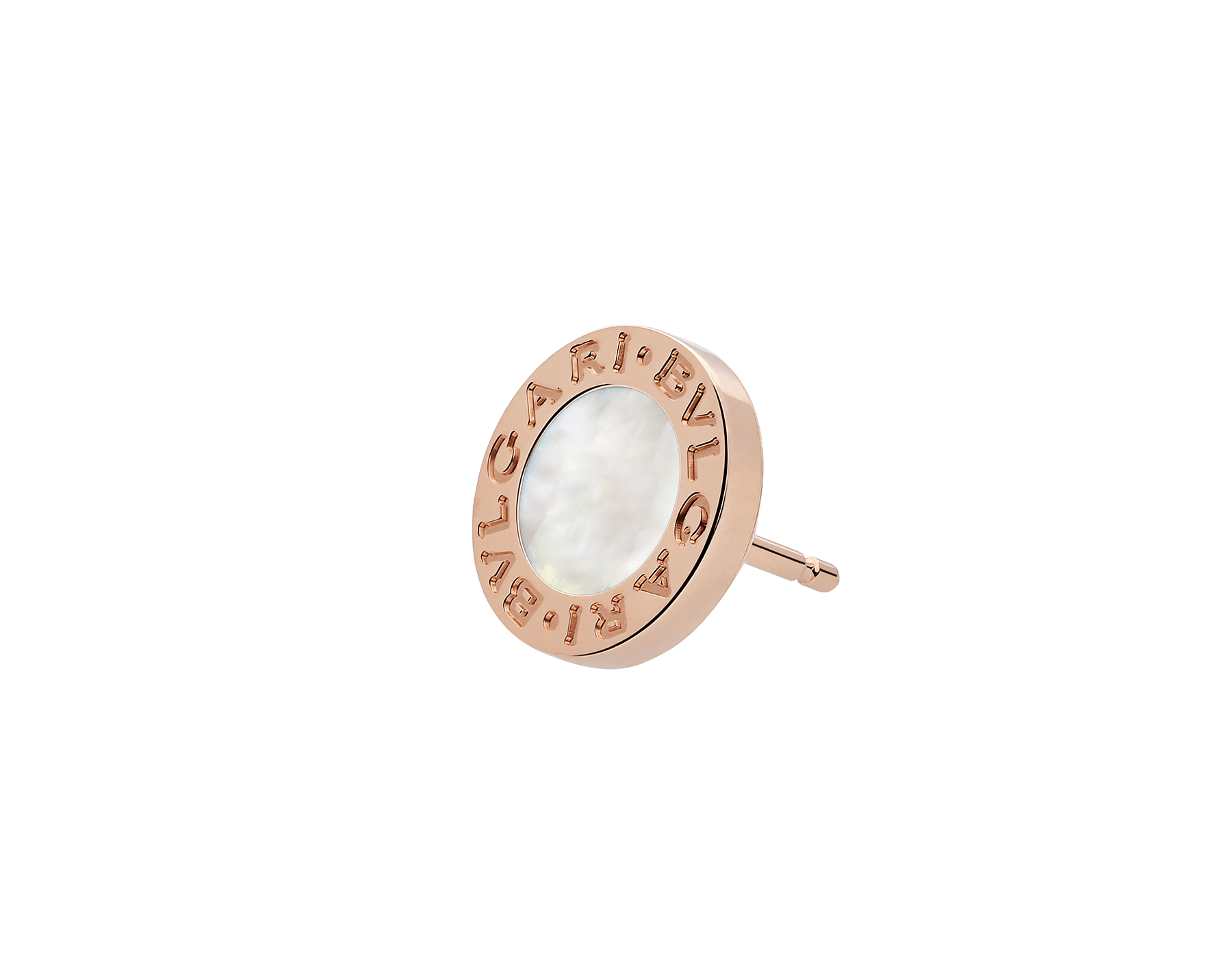 BVLGARI BVLGARI 18 kt rose gold single stud earring with mother-of-pearl 354732 image 2