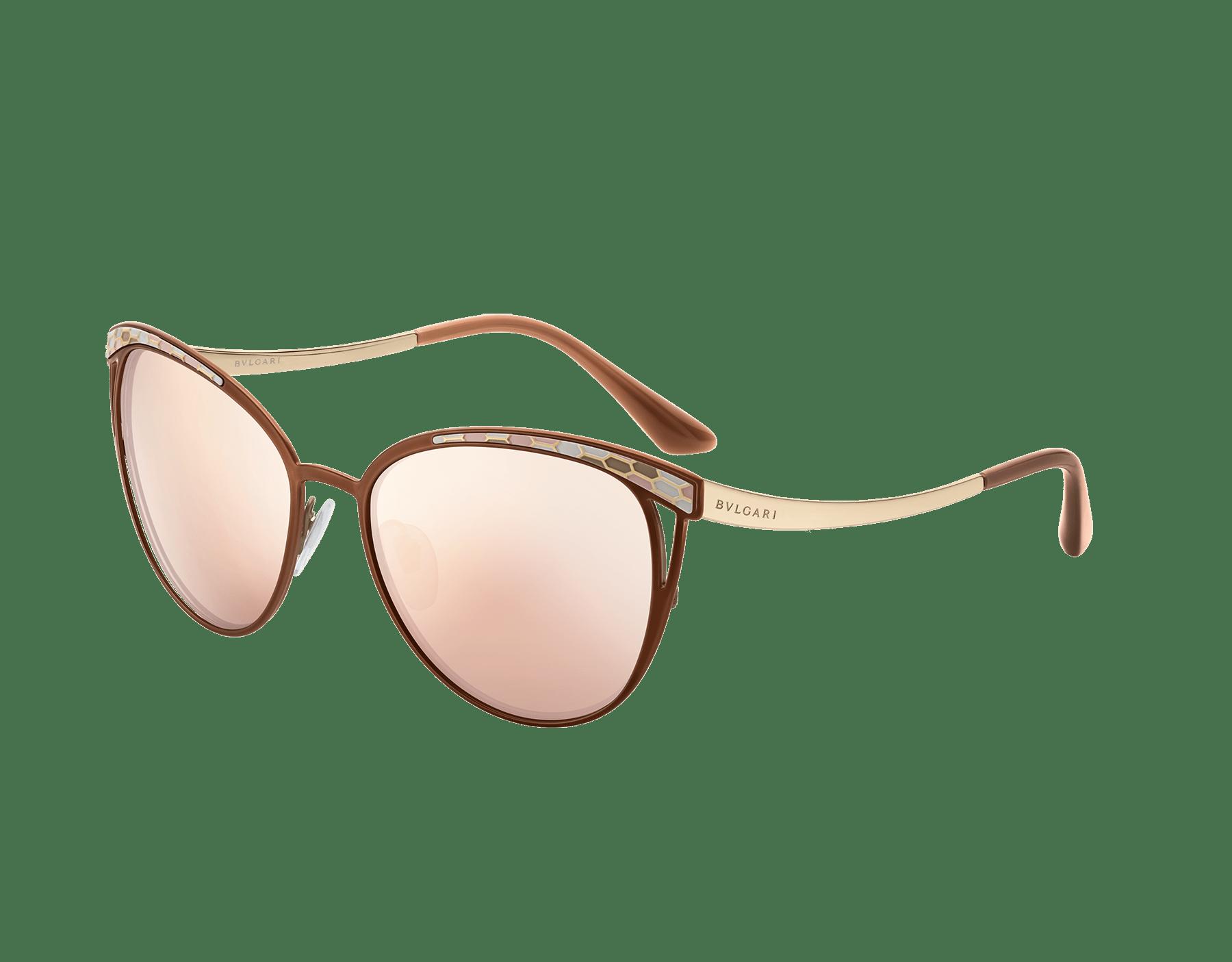 Contemporâneos óculos de sol Serpenti Serpentine com formato olho de gato em metal. 903605 image 1