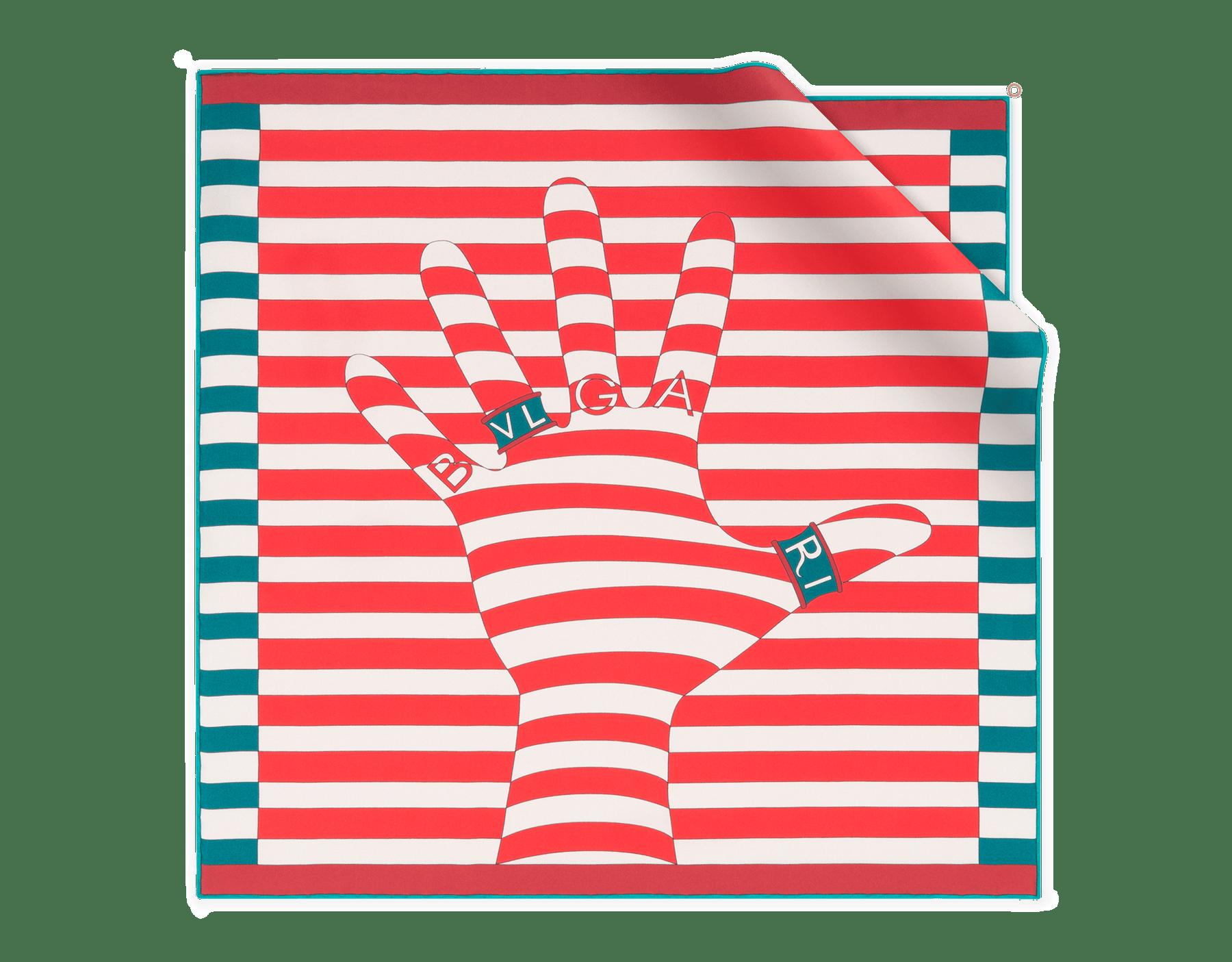 Sea star coral Walk of B Fame scarf in fine silk twill. 243777 image 1