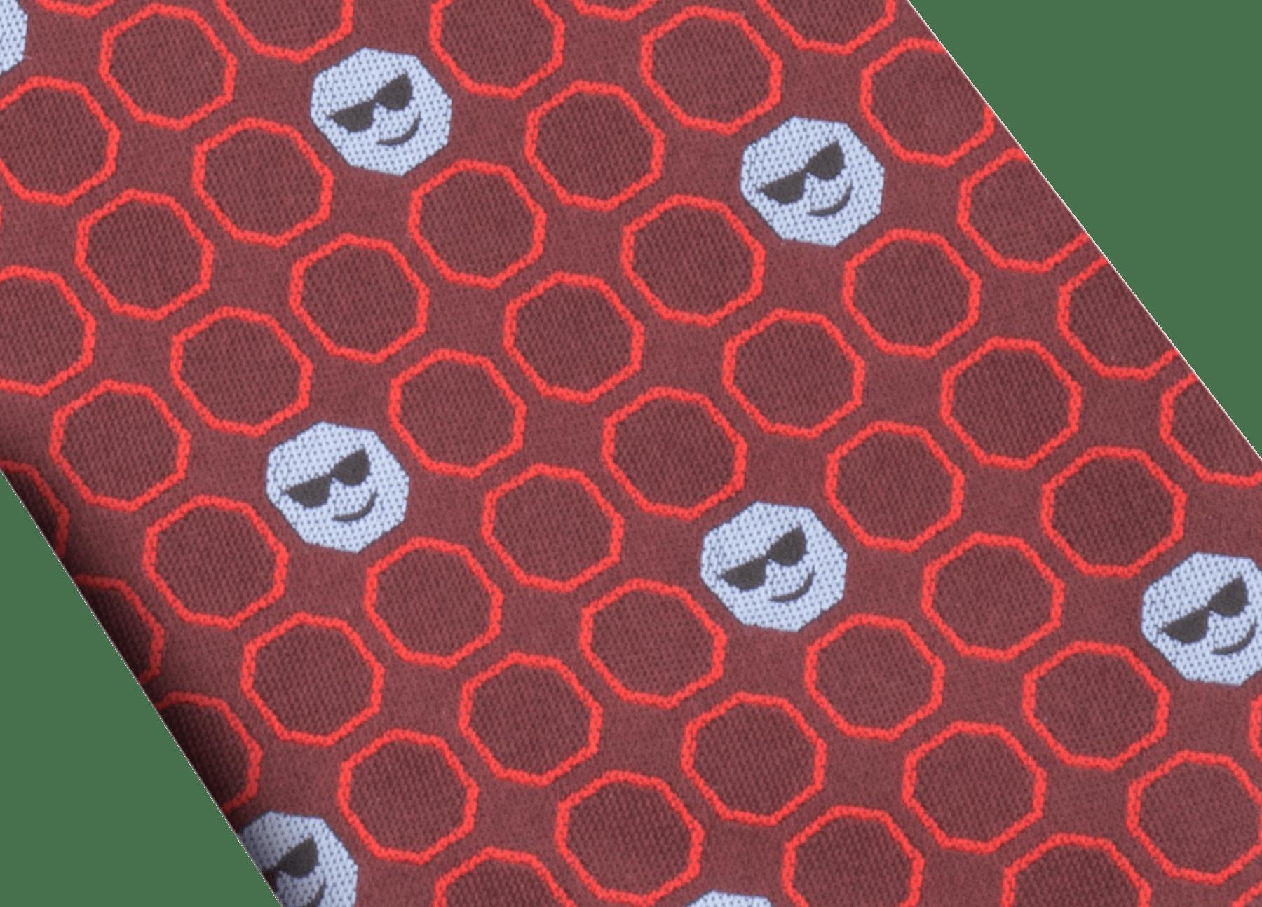 バイオレットの上質なジャガードシルク製「ダブル ソーシャル」ダブルフェイスタイ。 DOUBLESOCIAL image 2