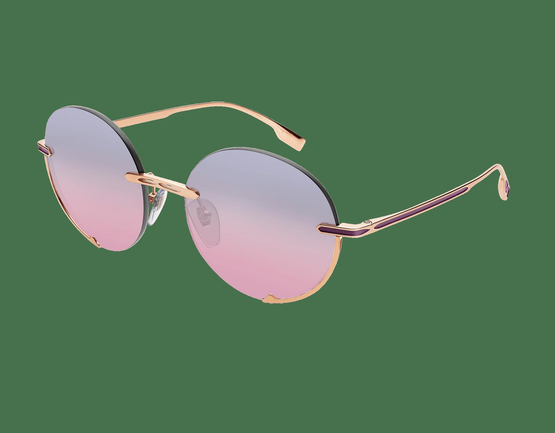 """نظارات شمسية بولغري بي.زيرو1 """"لوغو إيمبرايس"""" معدنية مستديرة. 904059 image 1"""