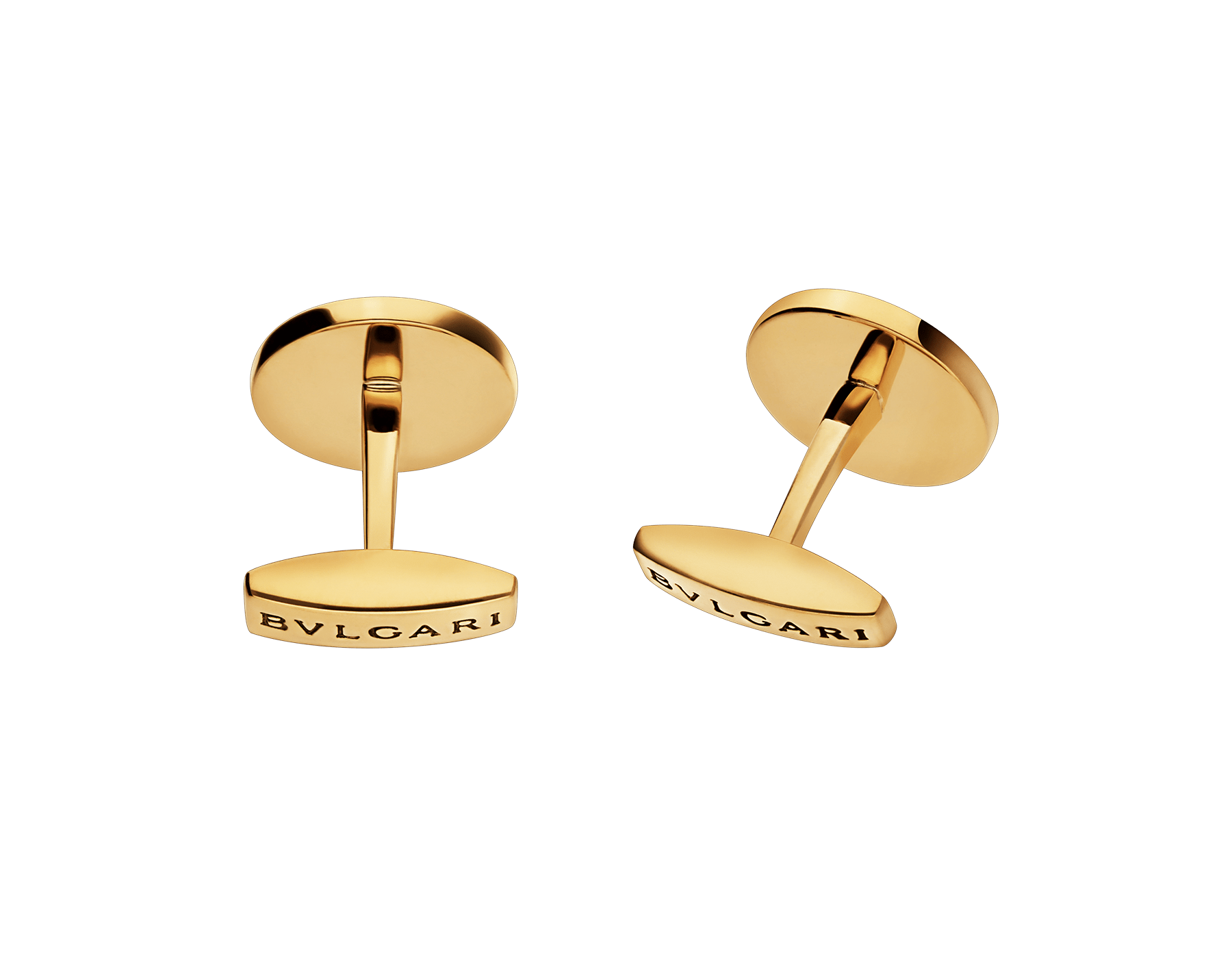 BVLGARI BVLGARI 18kt yellow gold cufflinks set with black onyx elements 322302 image 3