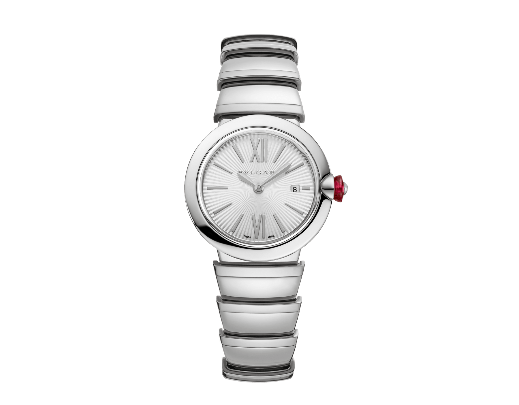 LVCEA watch in stainless steel case and bracelet, with silver opaline dial. 102195 image 1