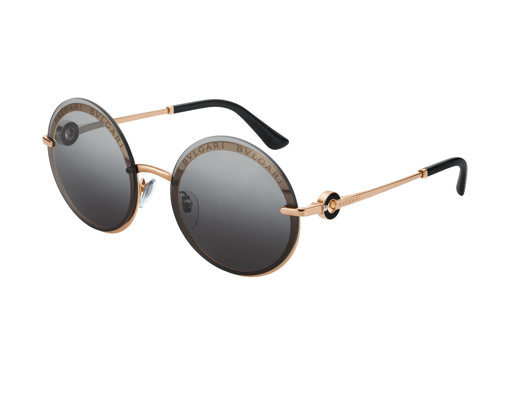 "Bvlgari Bvlgari ""On-Me"" round metal sunglasses. 904040 image 1"