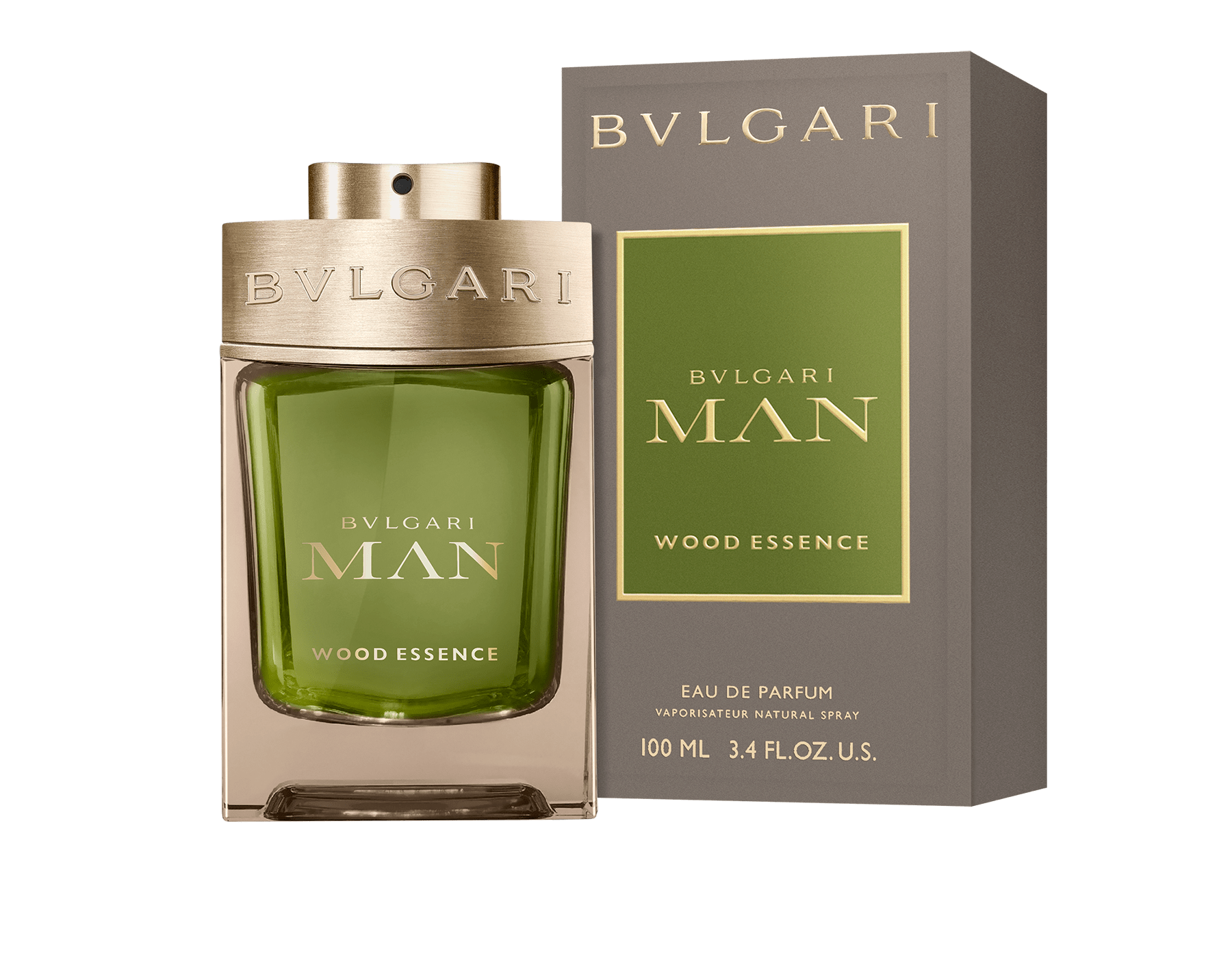 A neo woody signature uniting the finest perfumery essences – cedar, cypress, and vetiver – and resonating with the warm and sunny notes of benzoin resins BVLGARIMANWOODESSENCE image 2