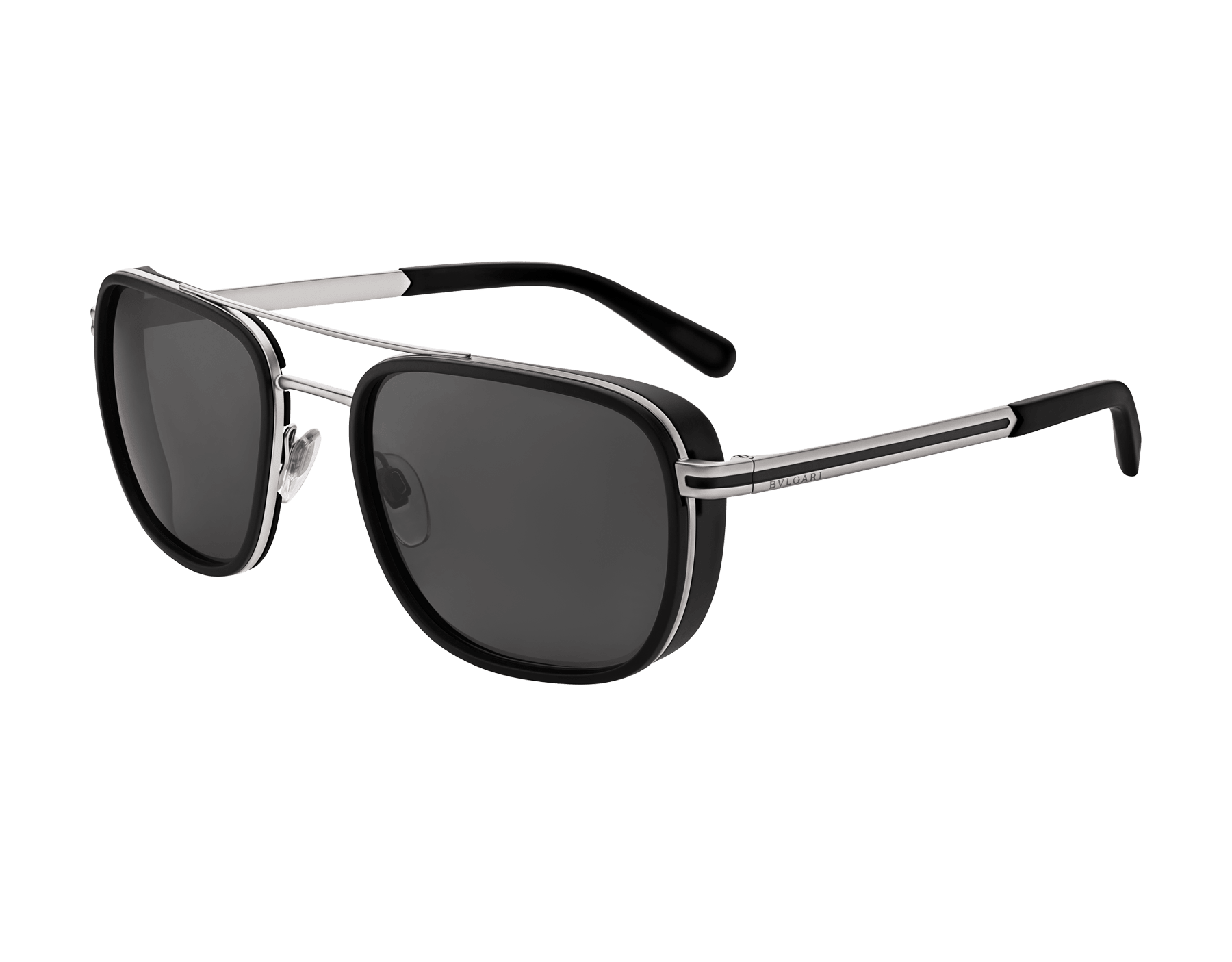 Bvlgari Bvlgari metal double bridge rectangular sunglasses. 904082 image 1