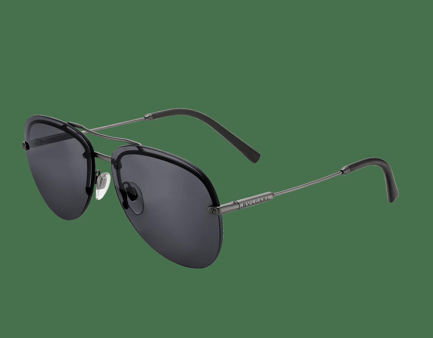 BVLGARI BVLGARI semi-rimless aviator sunglasses. 903412 image 2