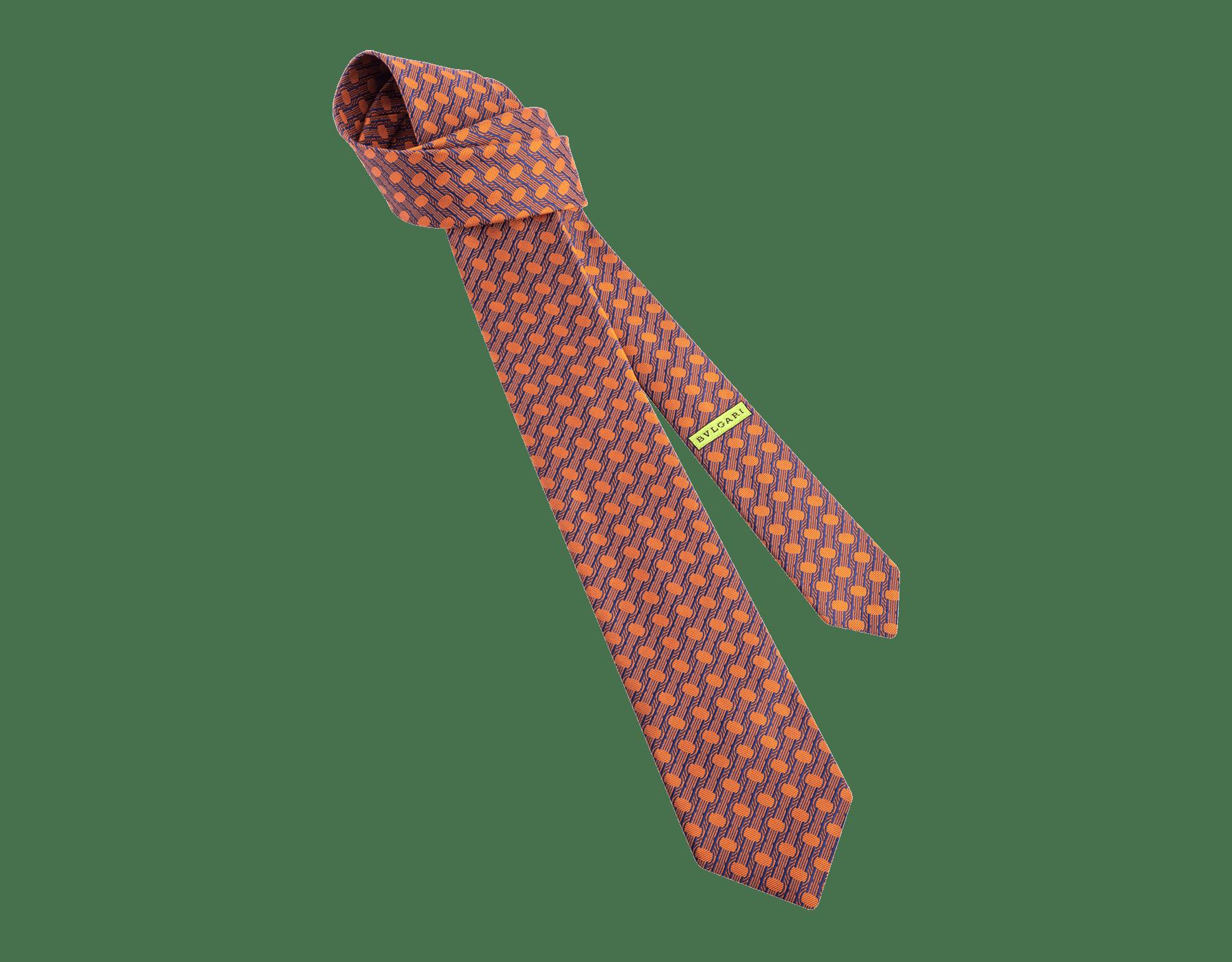 Saffron B.zero1 pattern seven-folds tie in fine silk. 243683 image 1