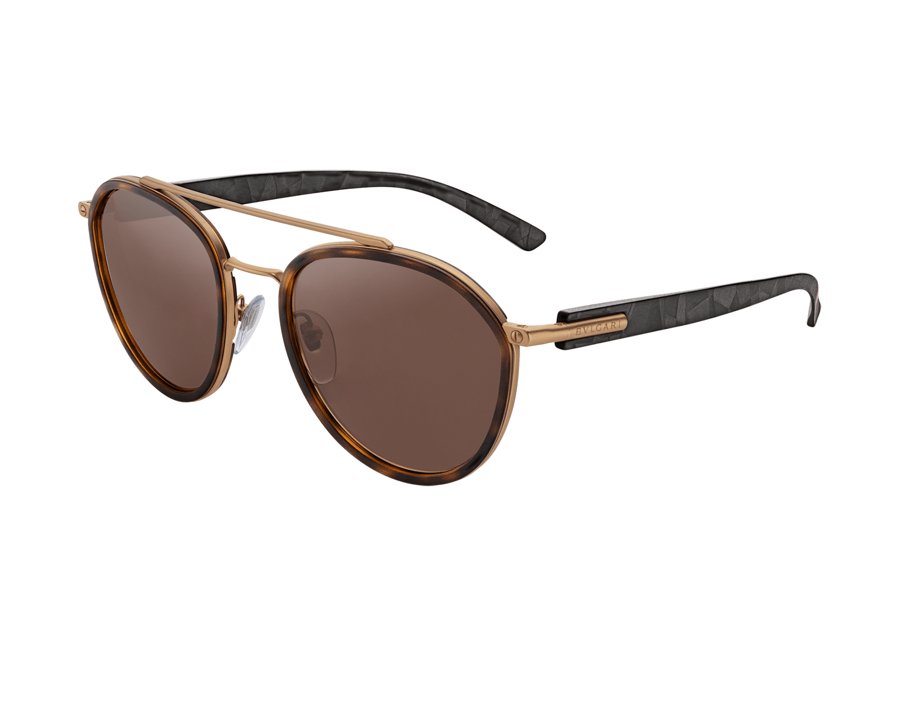Bvlgari Bvlgari metal rounded double bridge sunglasses. 904042 image 1