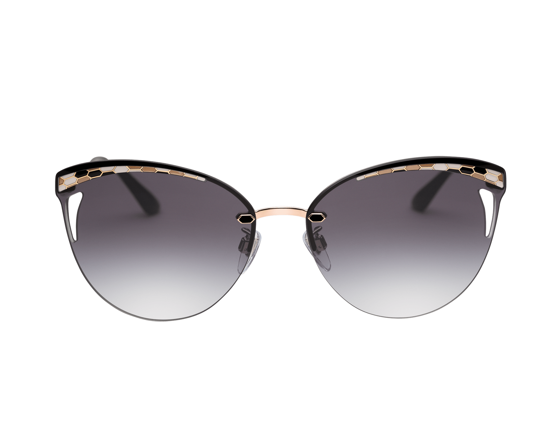 Bvlgari Serpentine Rainbow Scales semi-rimless cat-eye metal sunglasses 903639 image 2