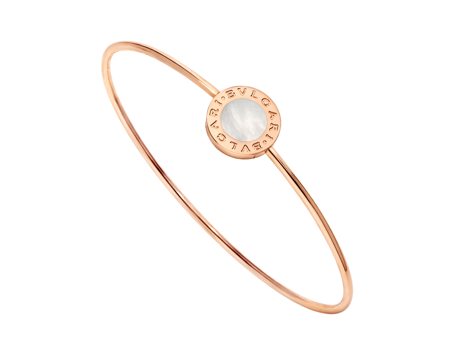BVLGARI BVLGARI 18 kt rose gold bracelet set with mother-of-pearl element BR858624 image 1