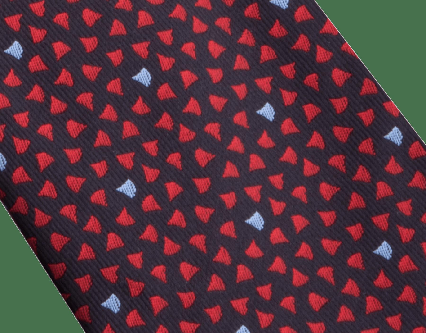 Red Double Diva Heat pattern tie in fine silk. 243431 image 2