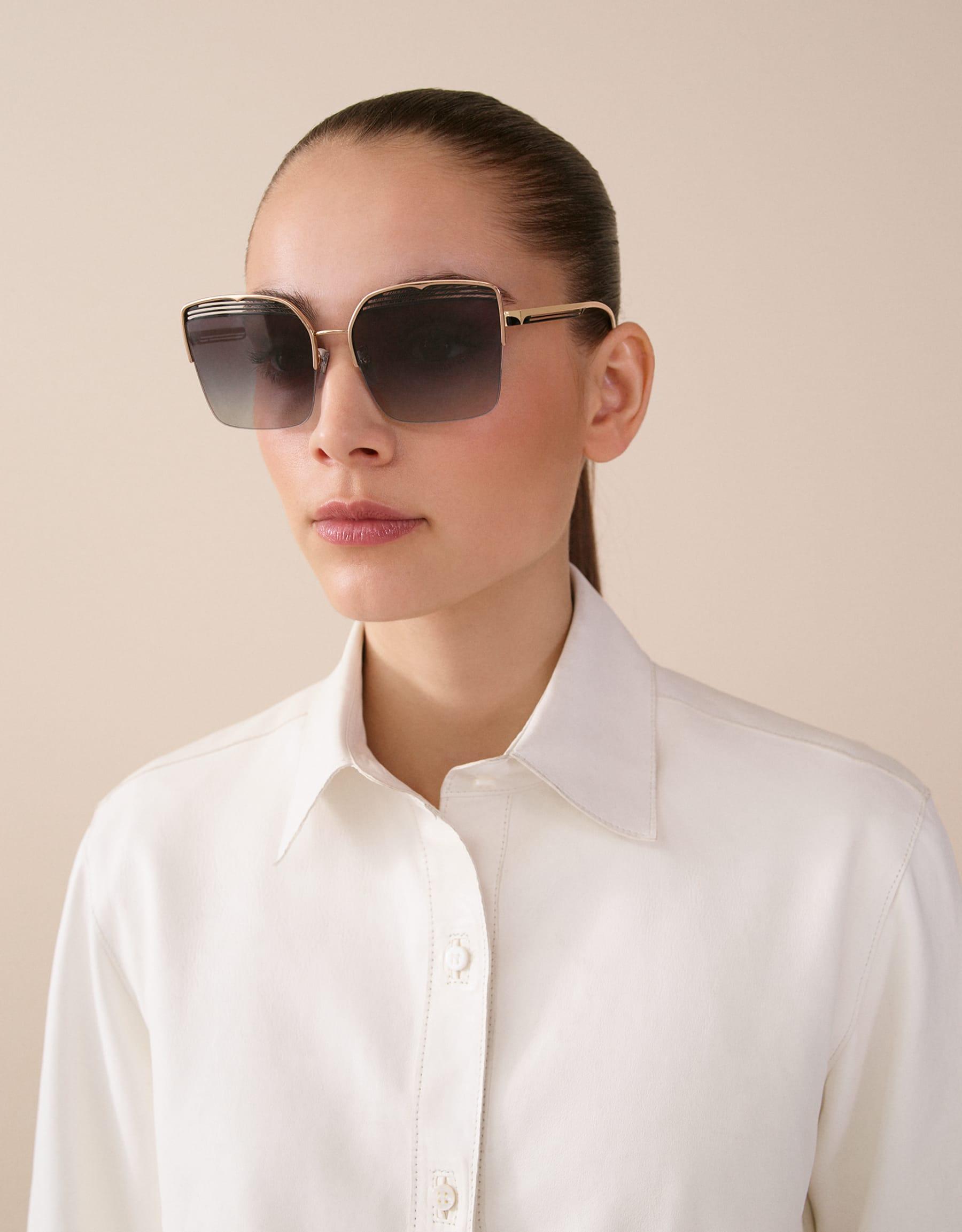 Bvlgari B.zero1 B.overvibe half-rim square metal sunglasses. 903810 image 3