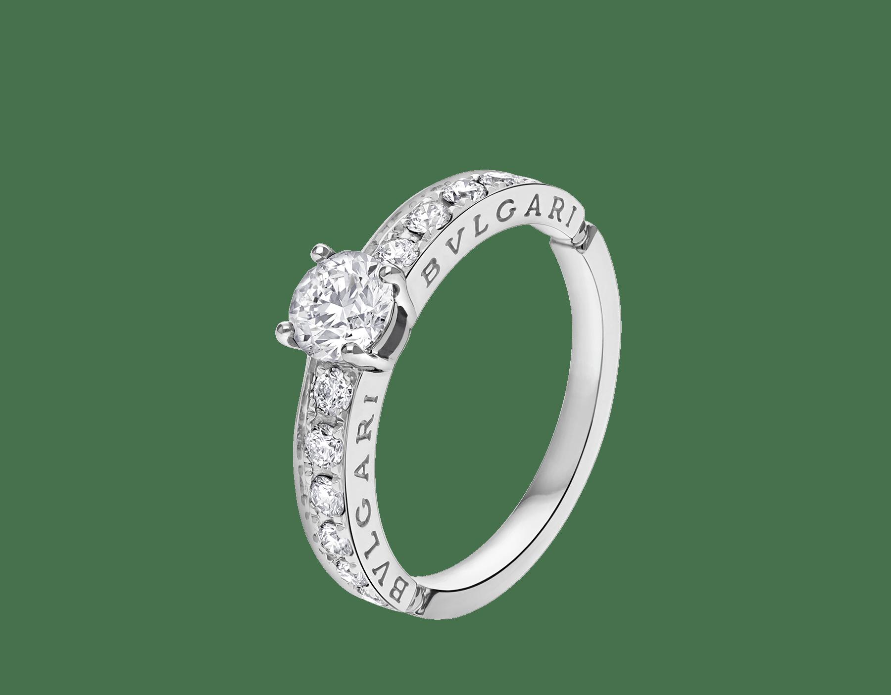 Dedicata a Venezia: solitaire1503 en platine serti d'un diamant rond taille brillant et pavé diamants 343211 image 1
