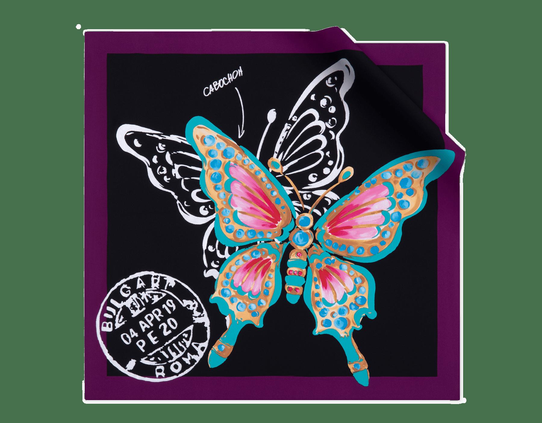 """Schwarzes """"Butterfly"""" Halstuch aus feinem Seidentwill. 243925 image 1"""