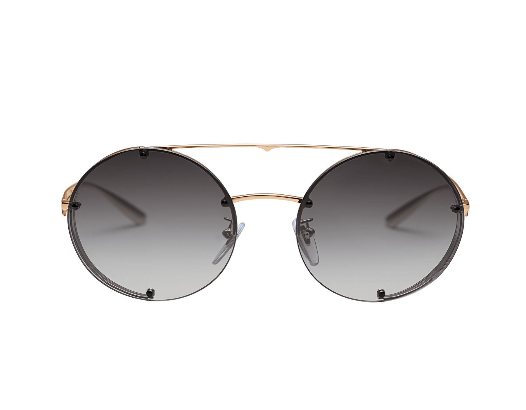 Bvlgari B.zero1 B.flyingstripe round metal aviator sunglasses. 903815 image 2