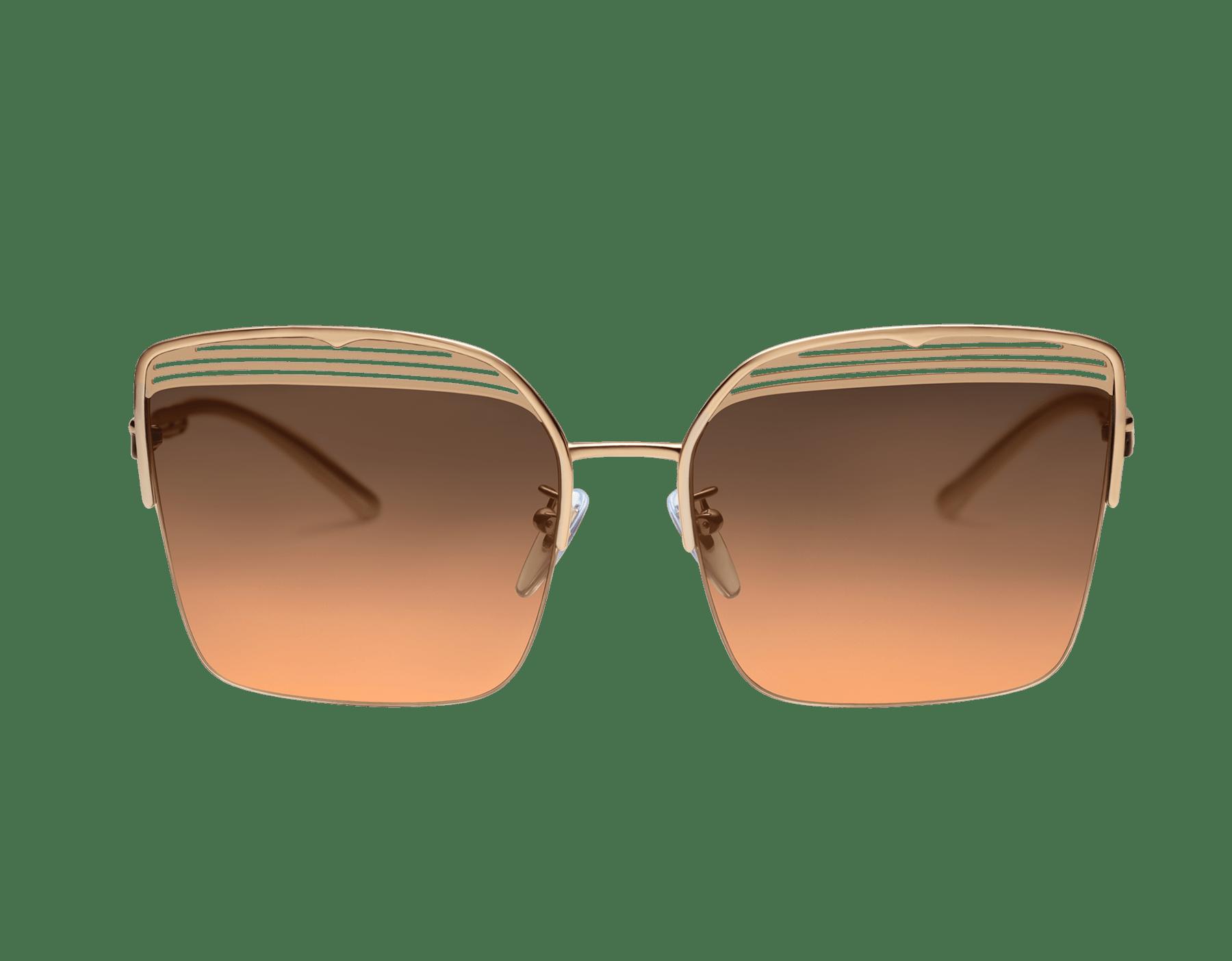 Occhiali da sole Bvlgari B.zero1 B.overvibe con montatura semicerchiata in metallo dalla forma squadrata. 903811 image 2