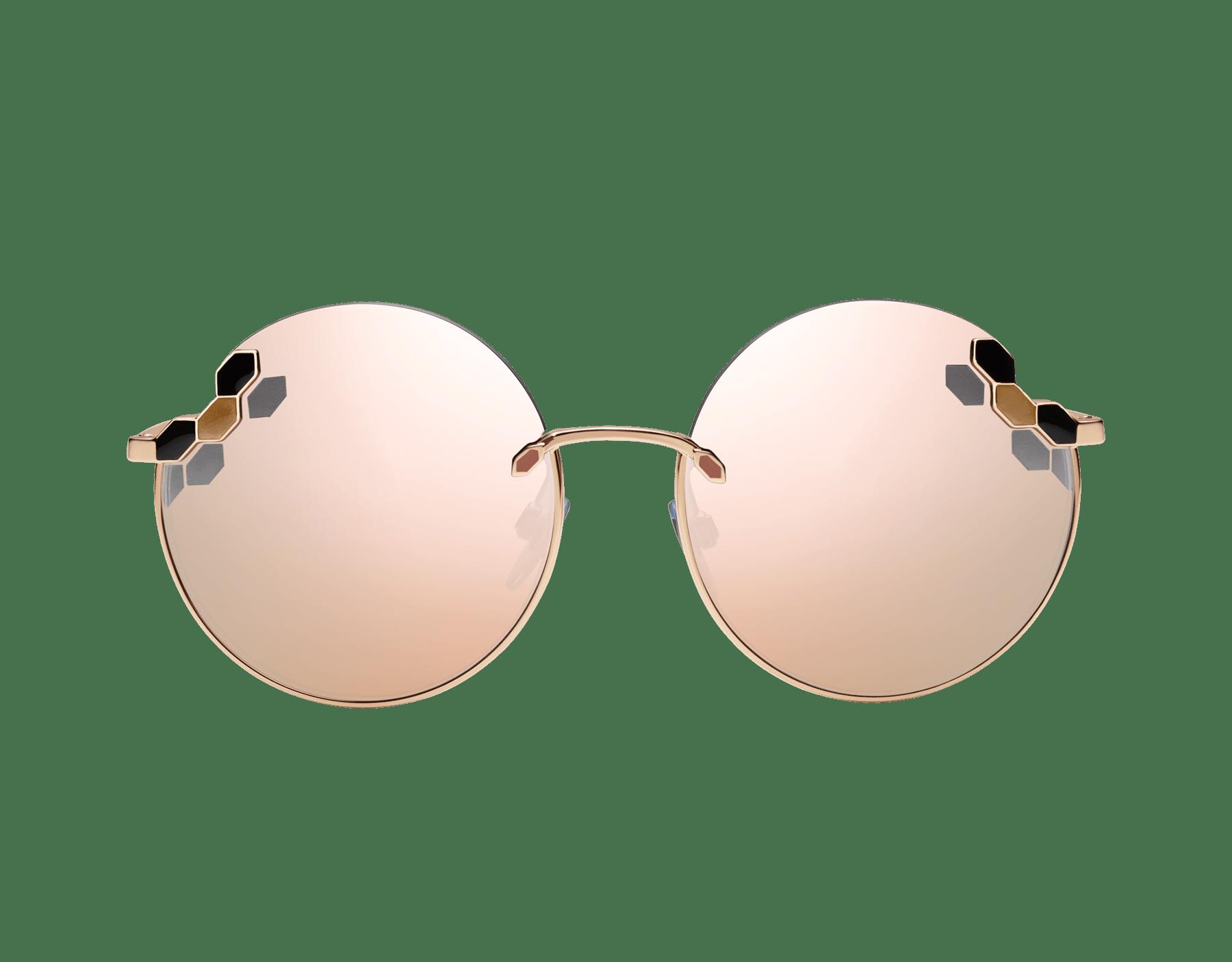 Bvlgari Serpenti Poisaround oversized round sunglasses. 903808 image 2