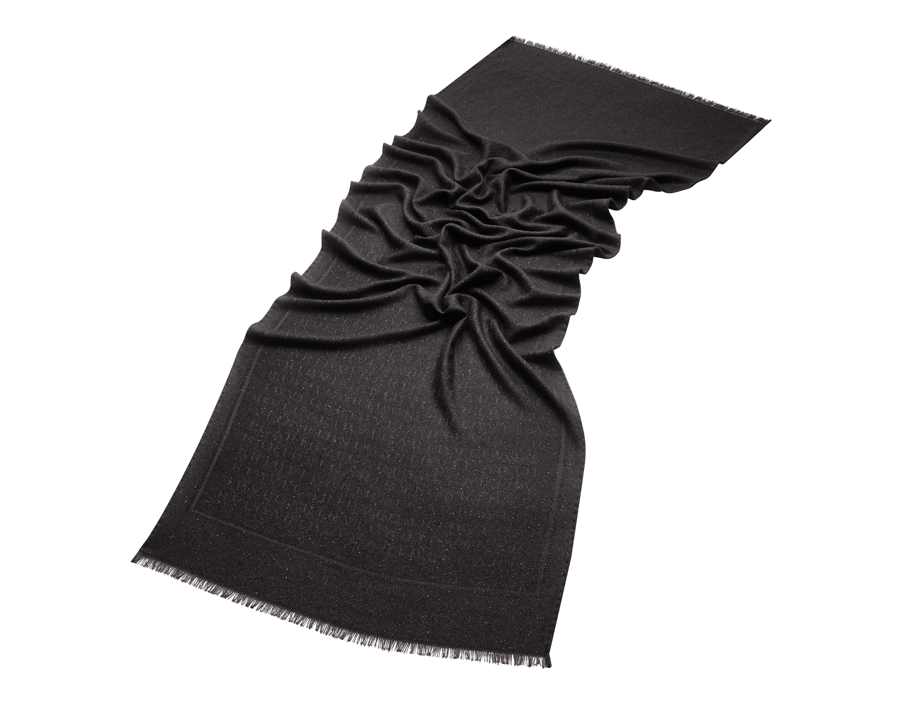 """Schwarze Stola """"Lettere Paillettes"""" aus feinem Kaschmir. 243967 image 1"""