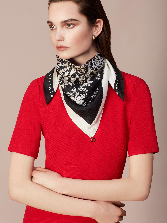 "Aegean Topaz blue ""Mary Katrantzou x Bvlgari"" scarf in fine, printed silk twill. Special Edition. MK-70Scarf image 2"