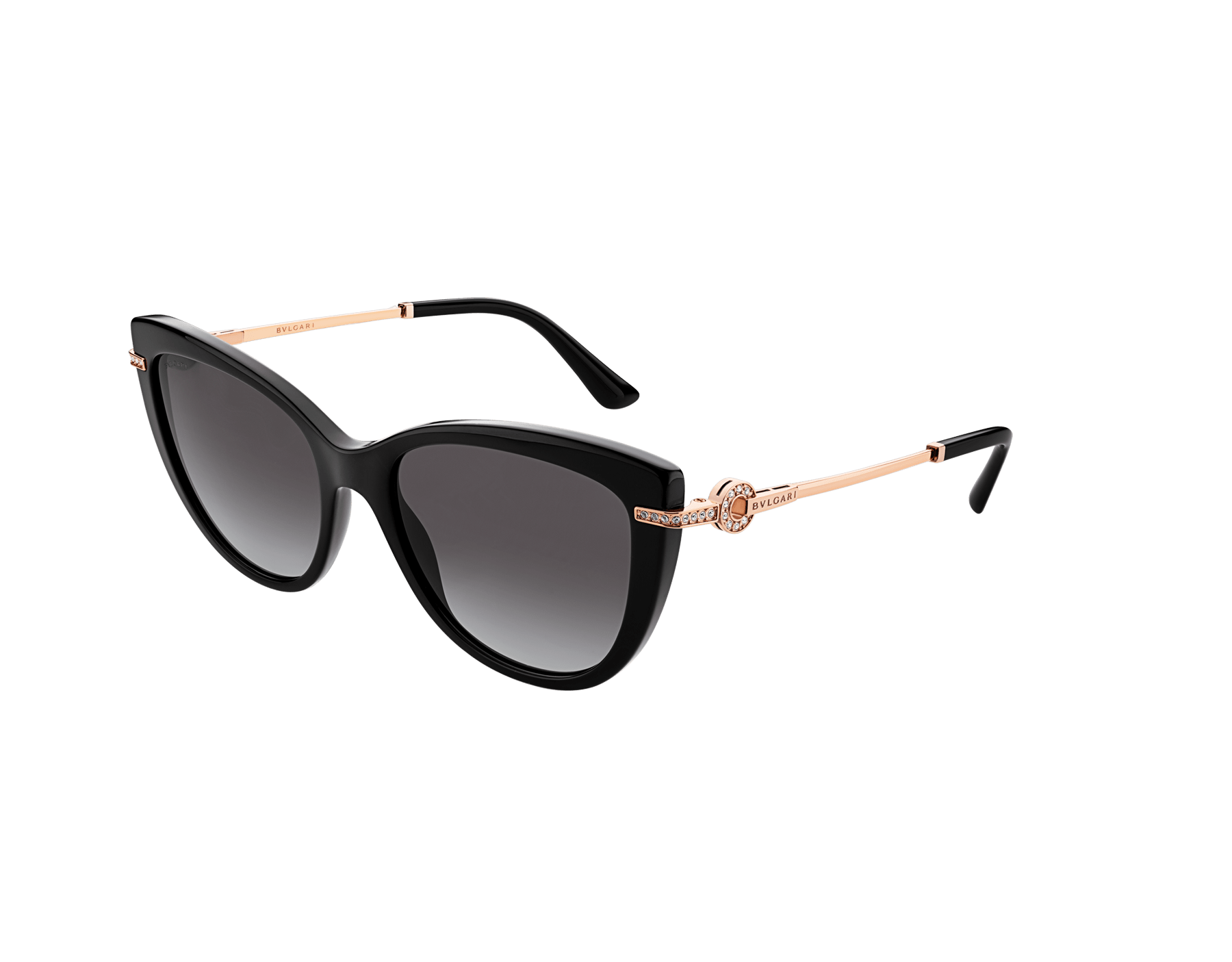 BVLGARI BVLGARI cat-eye acetate sunglasses with metal décor and crystals. 903800 image 1