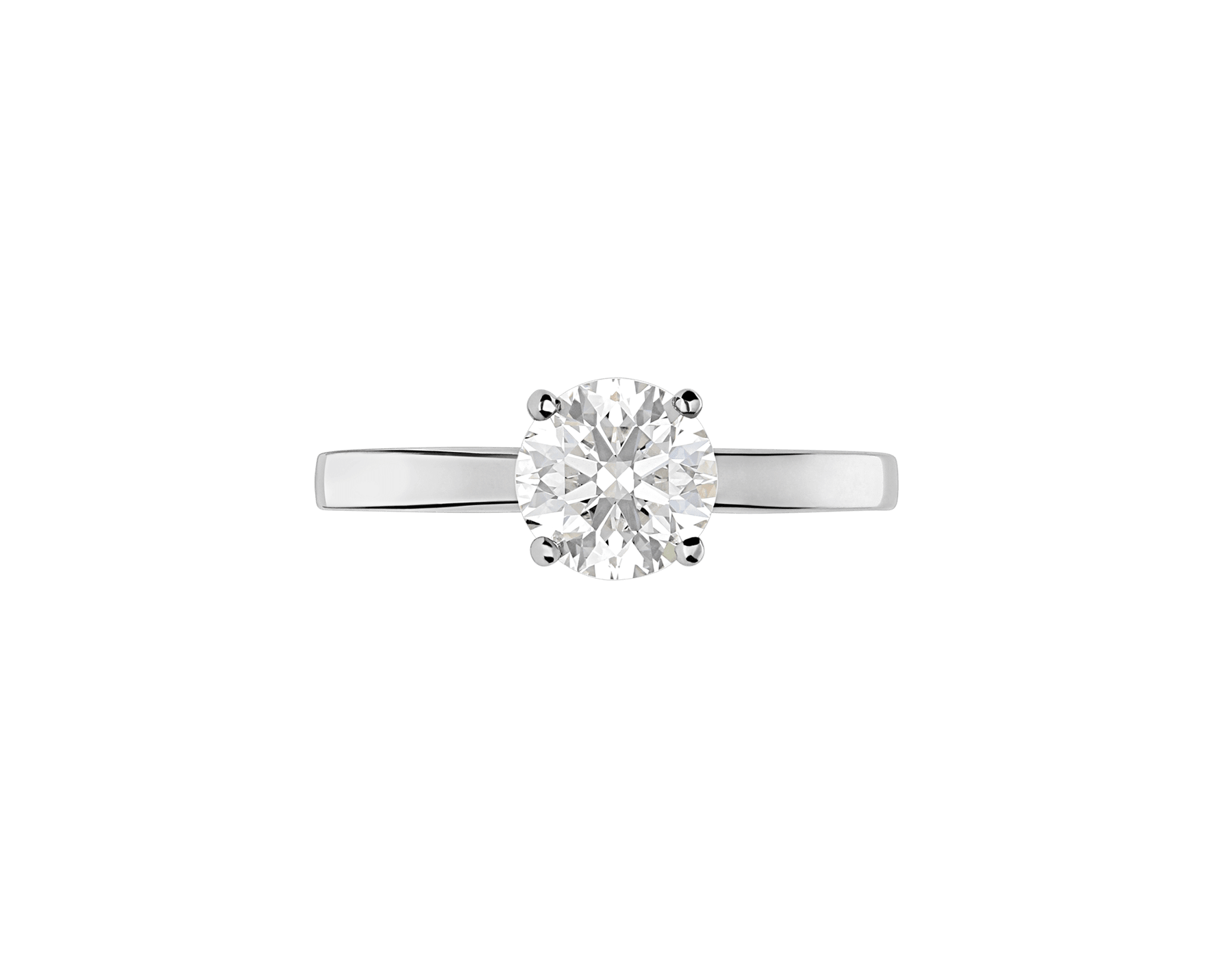 Griffe ring in platinum with round brilliant cut diamond. Available from 0.30 ct. 327827 image 2
