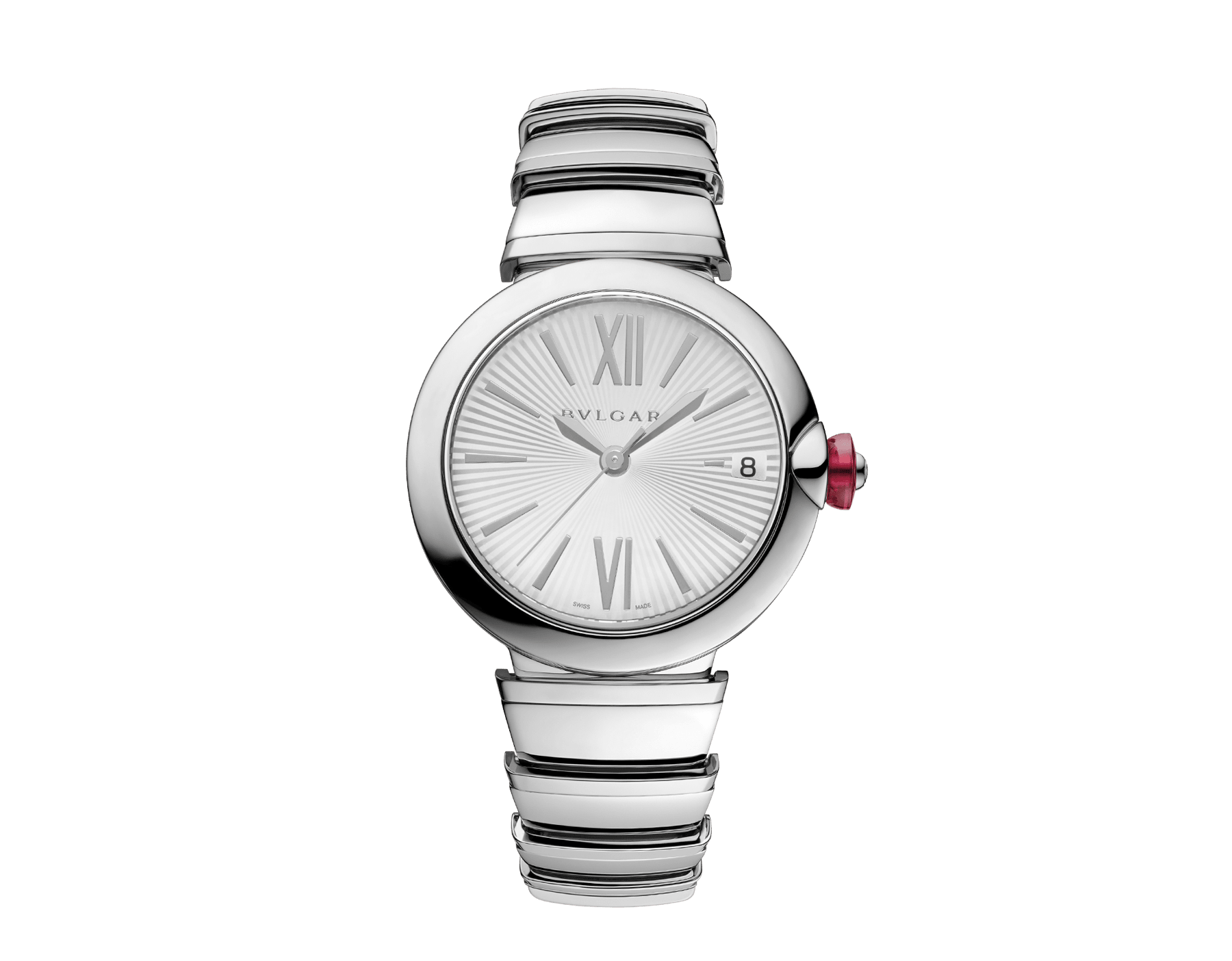 LVCEA watch in stainless steel case and bracelet, with silver opaline dial. 102219 image 1