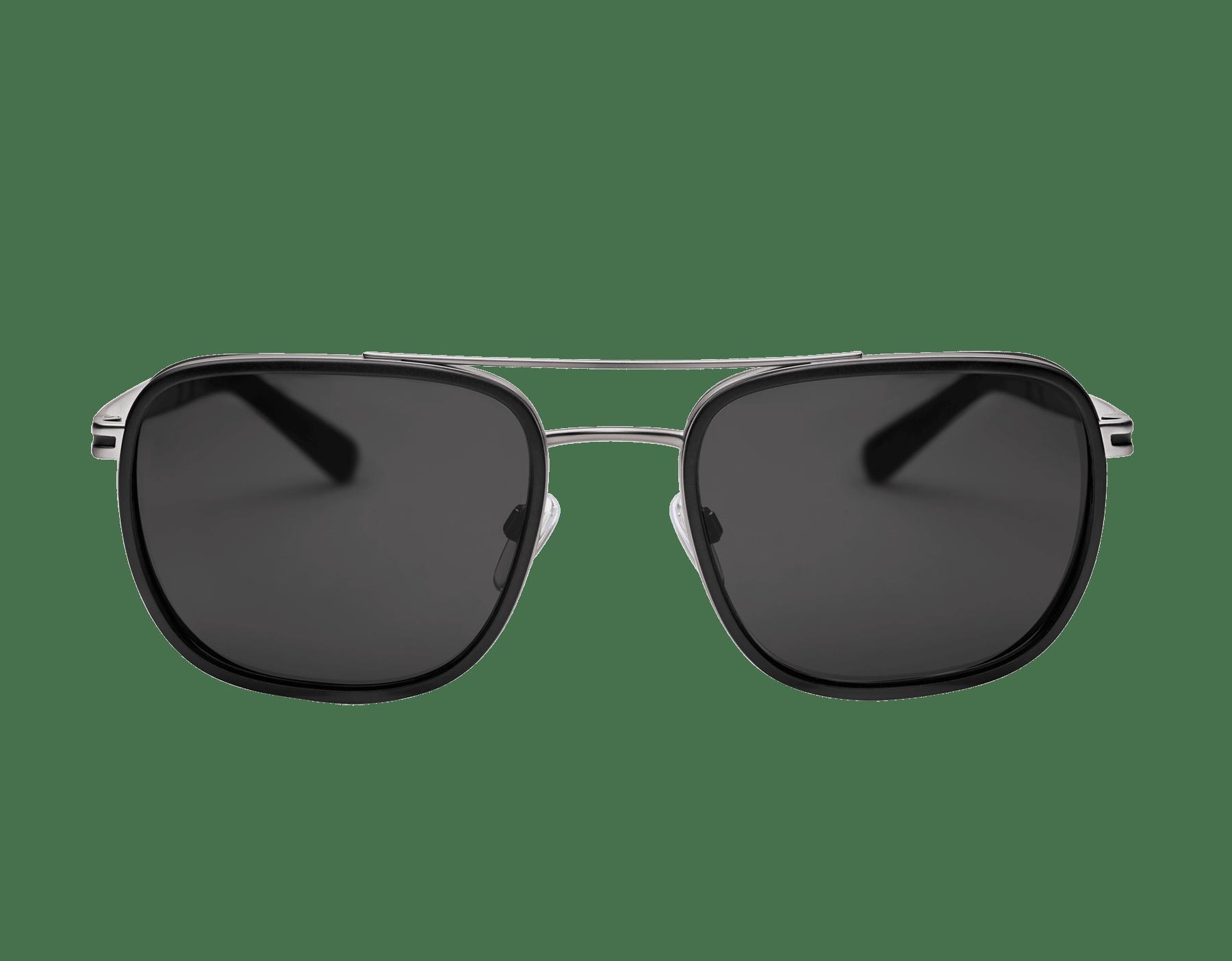 Óculos de sol Bvlgari Bvlgari formato retangular com ponte dupla em metal. 904082 image 2