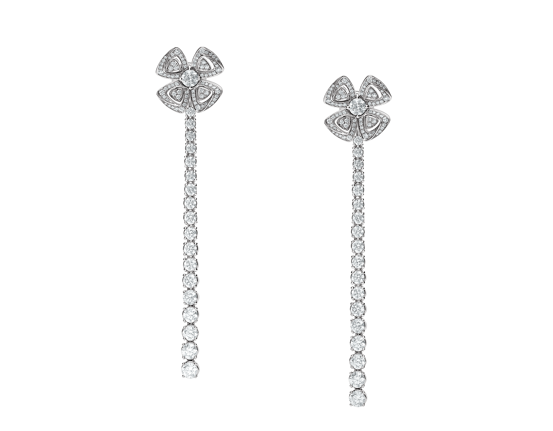 Fiorever 18 kt white gold convertible earrings set with brilliant-cut diamonds (2.81 ct) and pavé diamonds (0.26 ct) 358158 image 2
