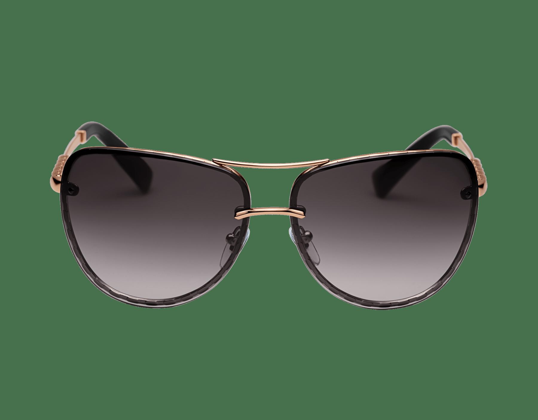 Bvlgari Serpenti Pilot gold plated metal sunglasses with gemstones and polar lenses. 903683 image 2