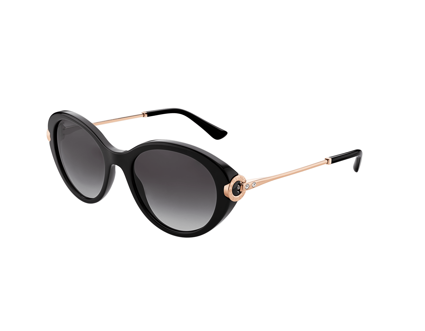 BVLGARI BVLGARI oval acetate sunglasses with metal décor and crystals. 903797 image 1