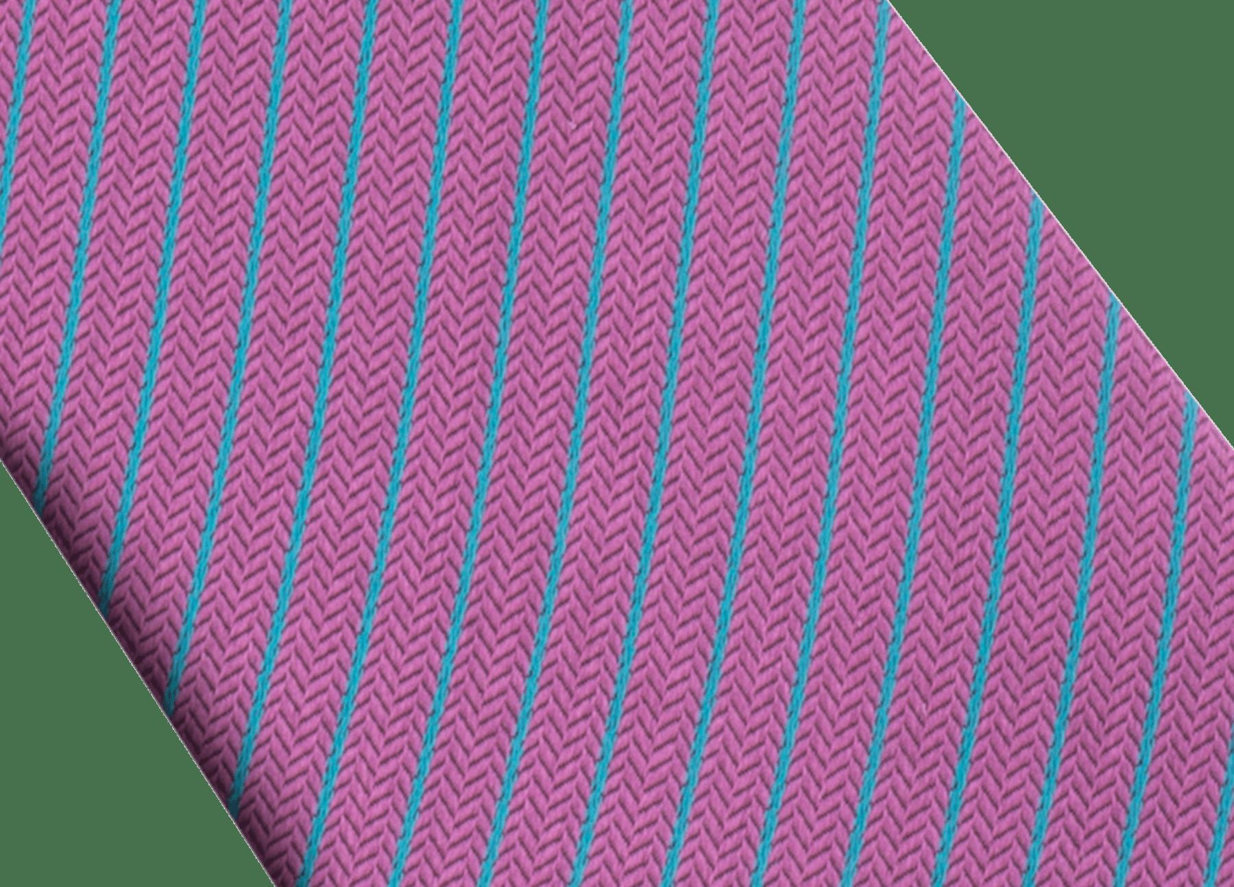 「Octo & Stripes」柄があしらわれたグレープアメジストのセブンフォールドタイ。上質なジャガードシルク製。 244207 image 2