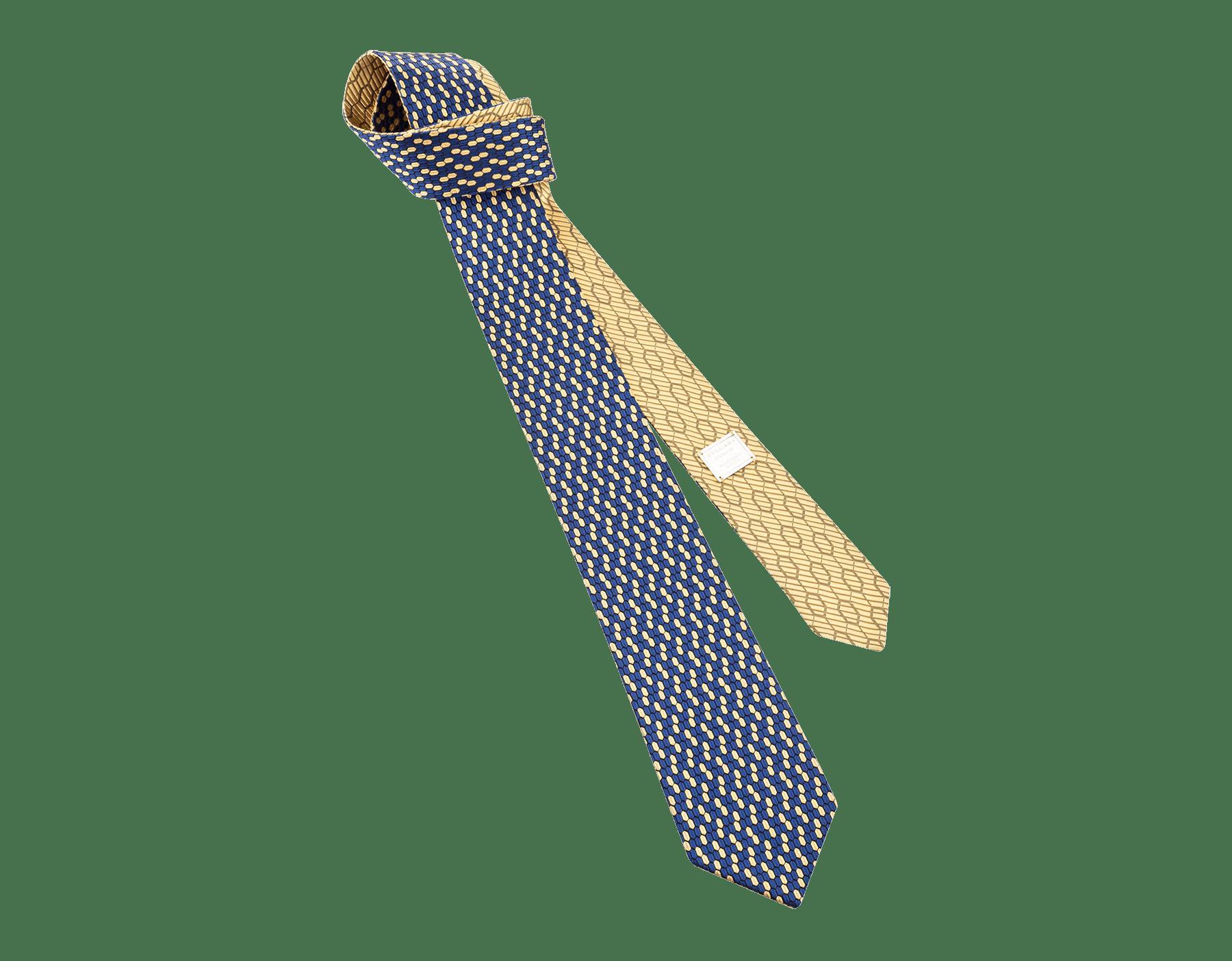 イエローのダブル マルチスケール ネクタイ。上質なジャカードシルク製。 244430 image 1