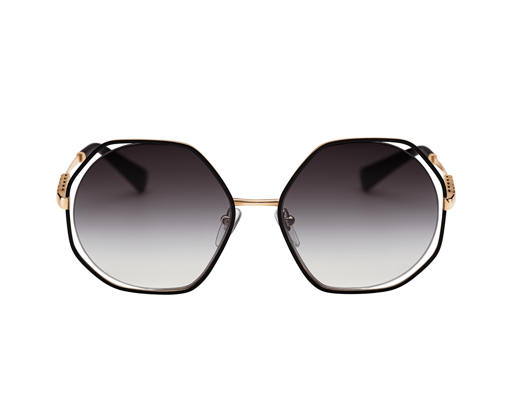 "Le Gemme Serpenti ""Spell"" gold plated irregular rounded sunglasses with mother-of-pearl inserts. 904046 image 2"