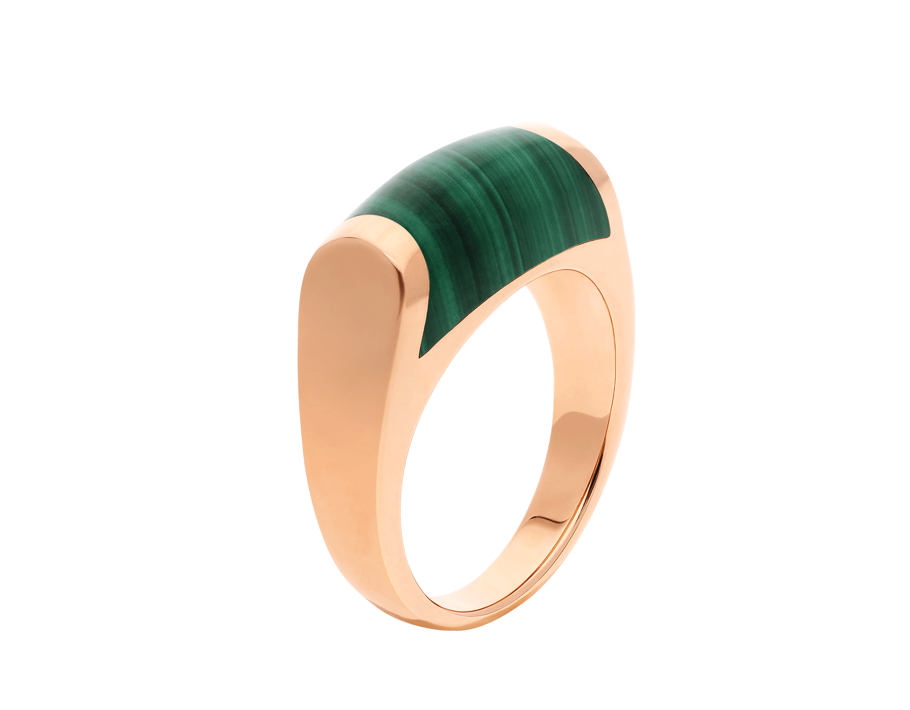 MVSA ring in 18 kt rose gold, set with a malachite. AN857913 image 1
