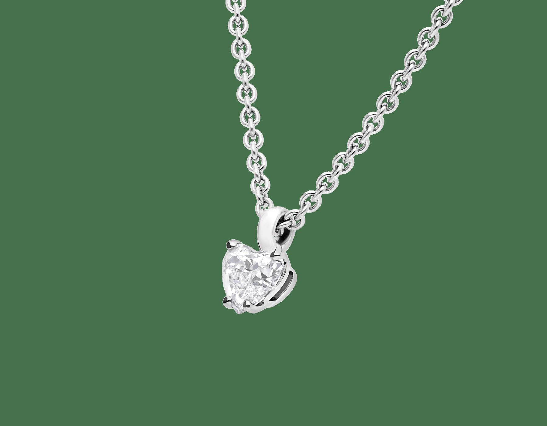 Griffe 18K 白金項墜鑲飾心形切割鑽石,18K 白金鍊帶。 338204 image 3