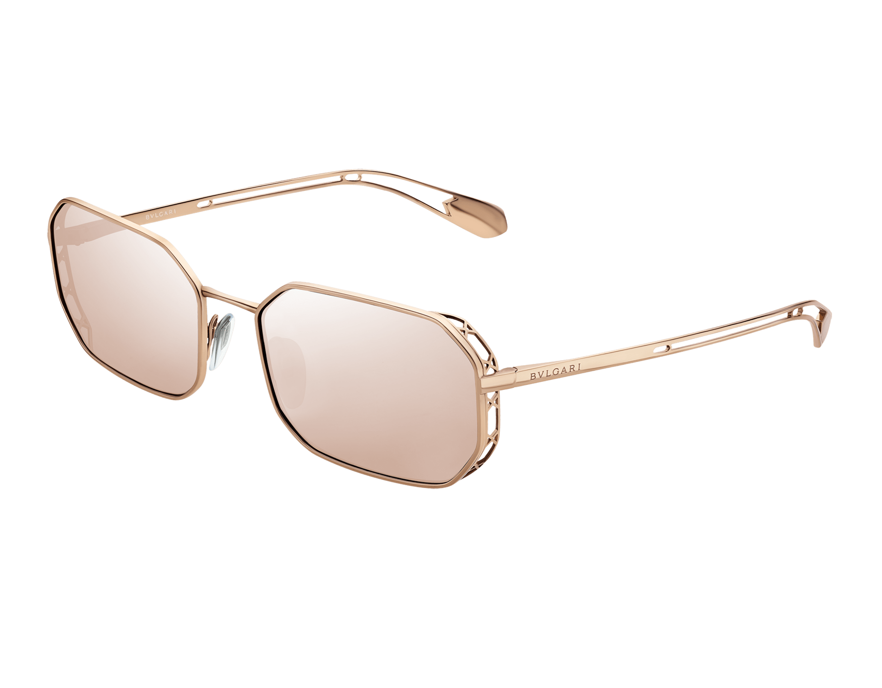 Bvlgari Serpenti Narrowmation rectangular aviator metal sunglasses. 903861 image 1