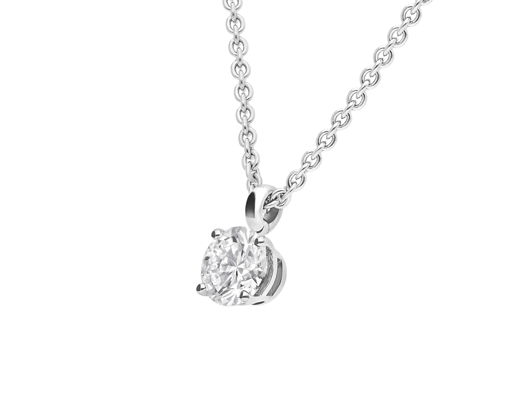 Griffe 18 kt white gold pendant with round brilliant cut diamond and 18 kt white gold chain 338201 image 4