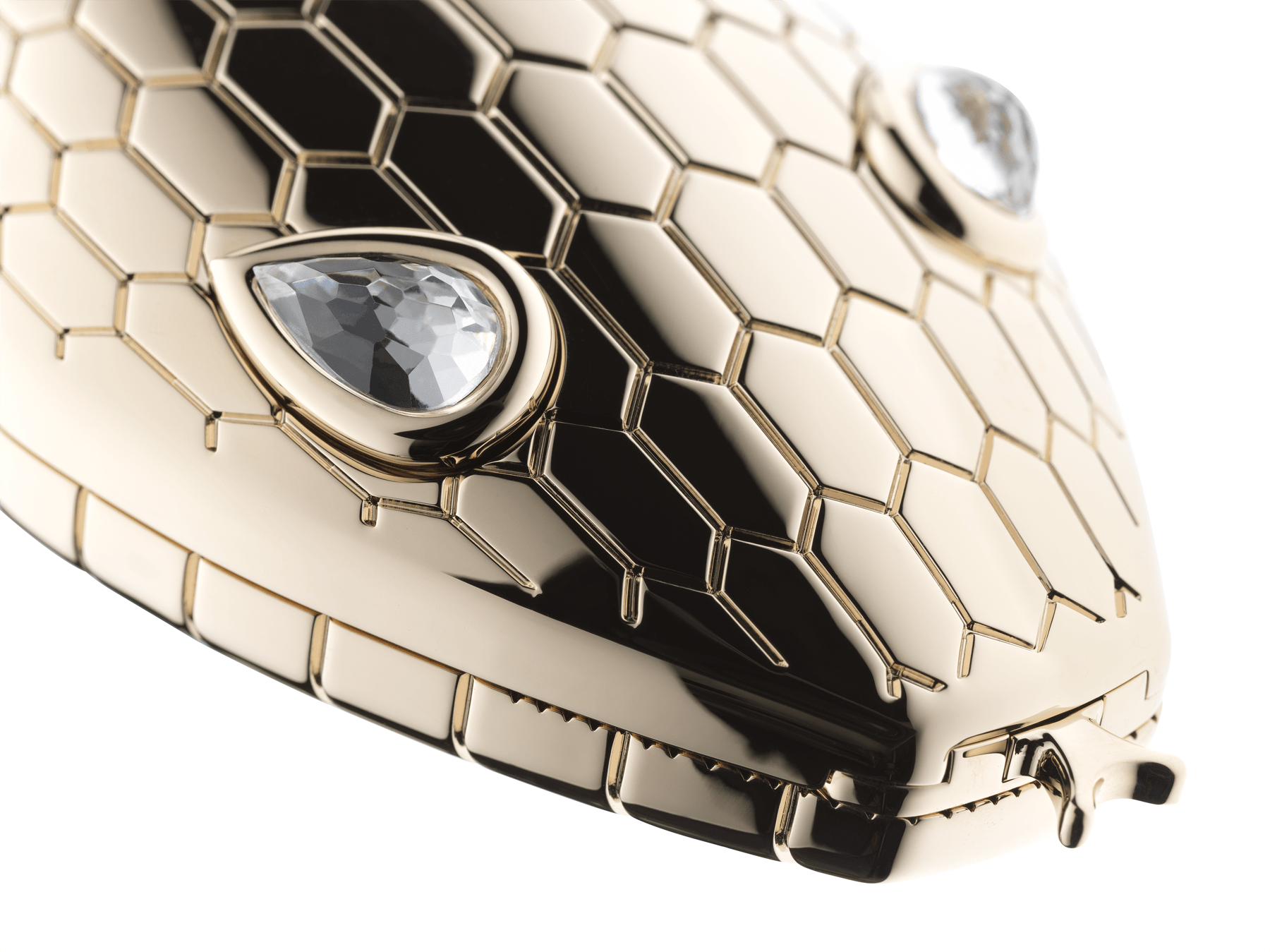 """""""Mary Katrantzou x Bvlgari"""" minaudière in gold-plated brass, finished with seductive crystal eyes. Special Edition. MK-1158 image 4"""